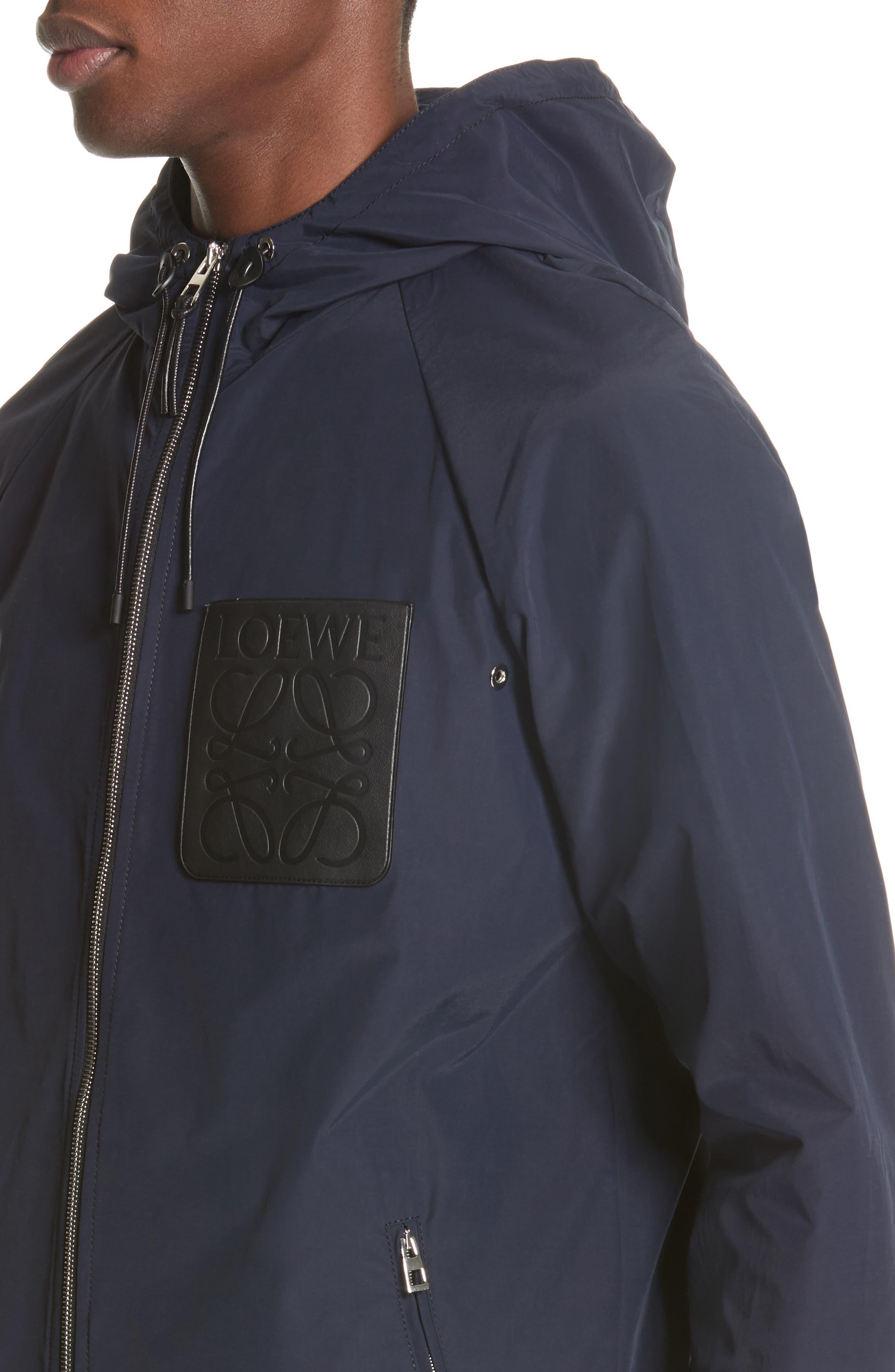 Zip Hooded Jacket,                             Alternate thumbnail 4, color,                             NAVY BLUE