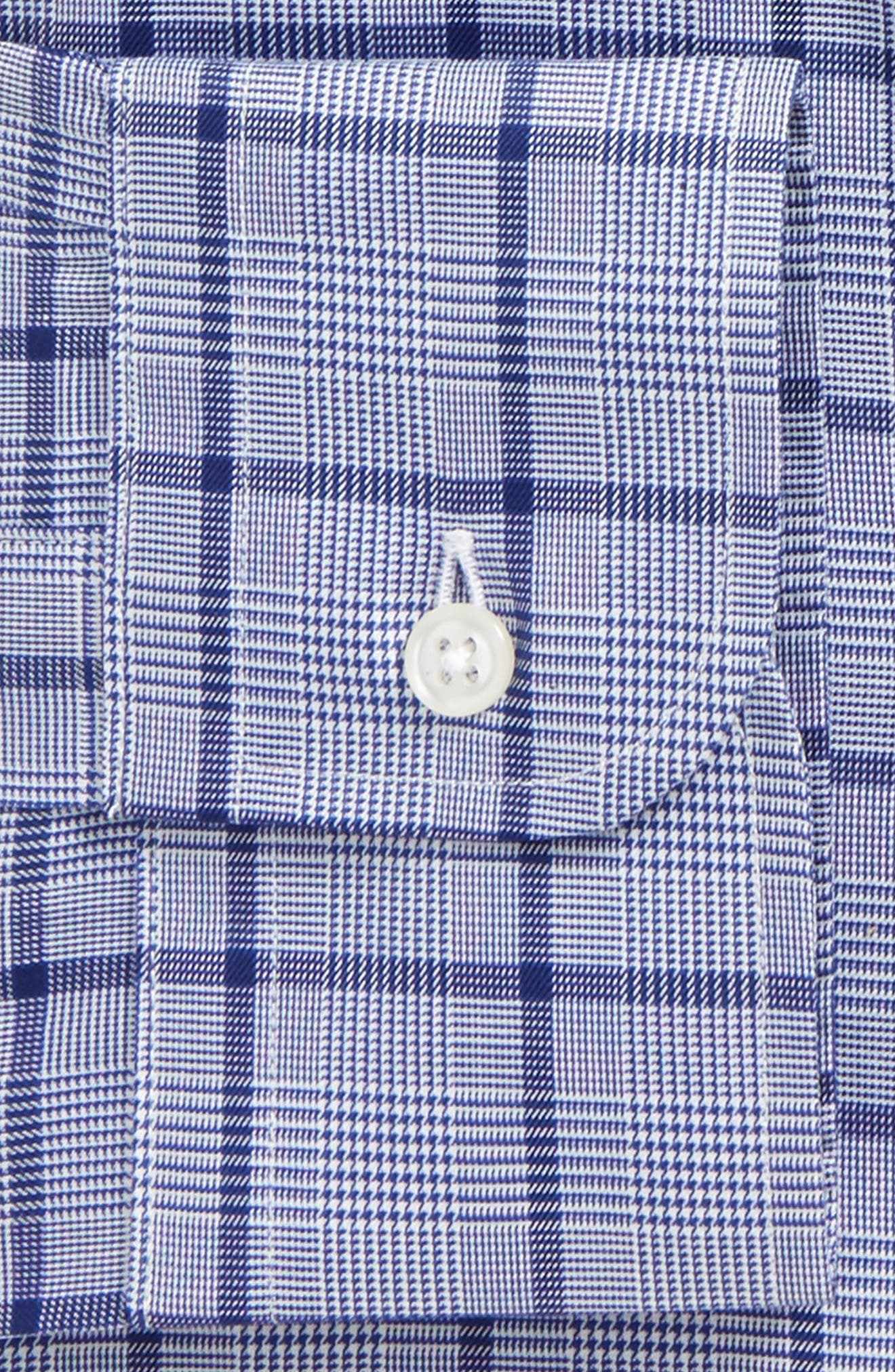 Classic Fit Check Dress Shirt,                             Alternate thumbnail 6, color,                             420