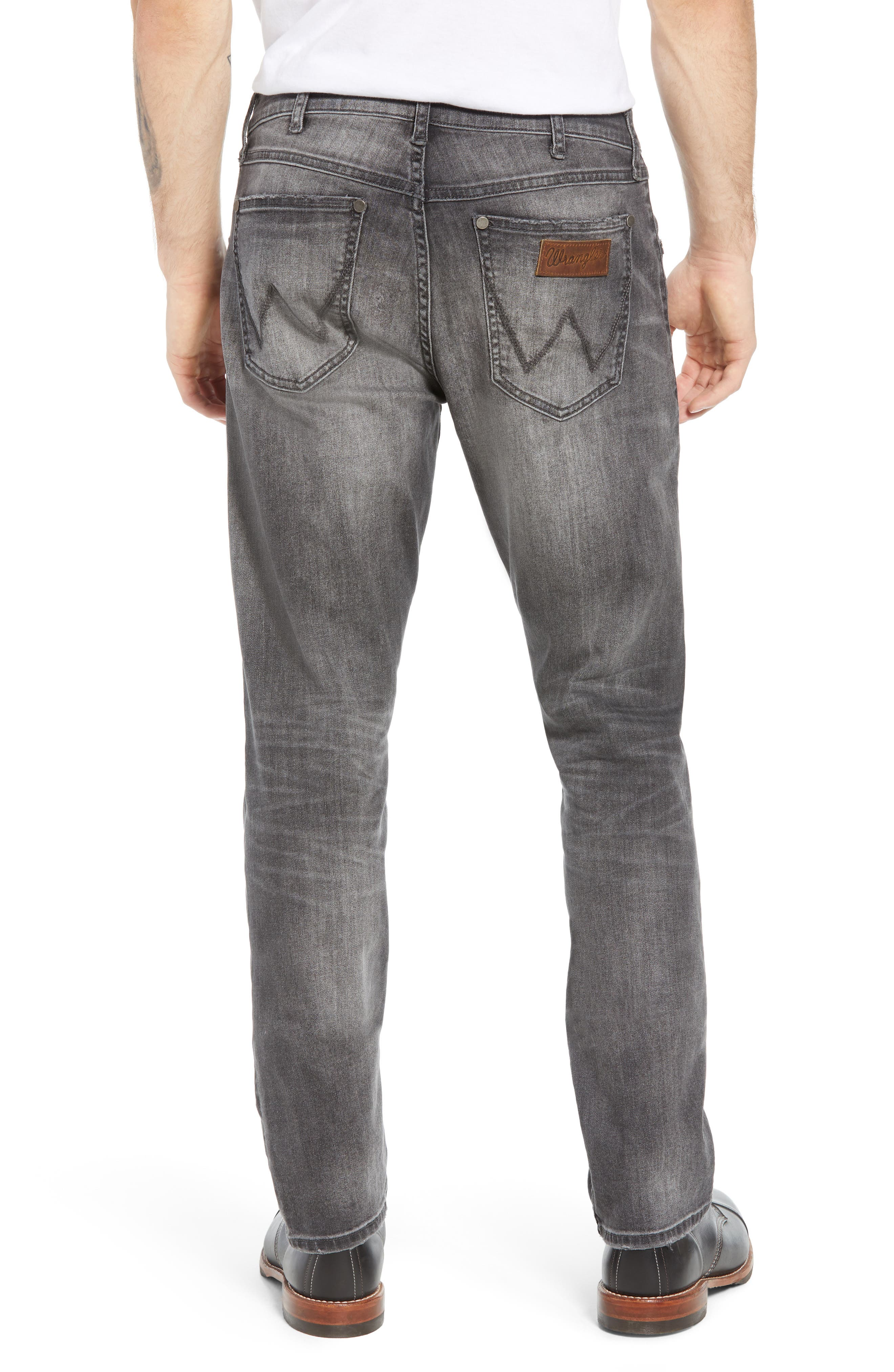 Greensboro Straight Leg Jeans,                             Alternate thumbnail 2, color,                             GREY DESTRUCT