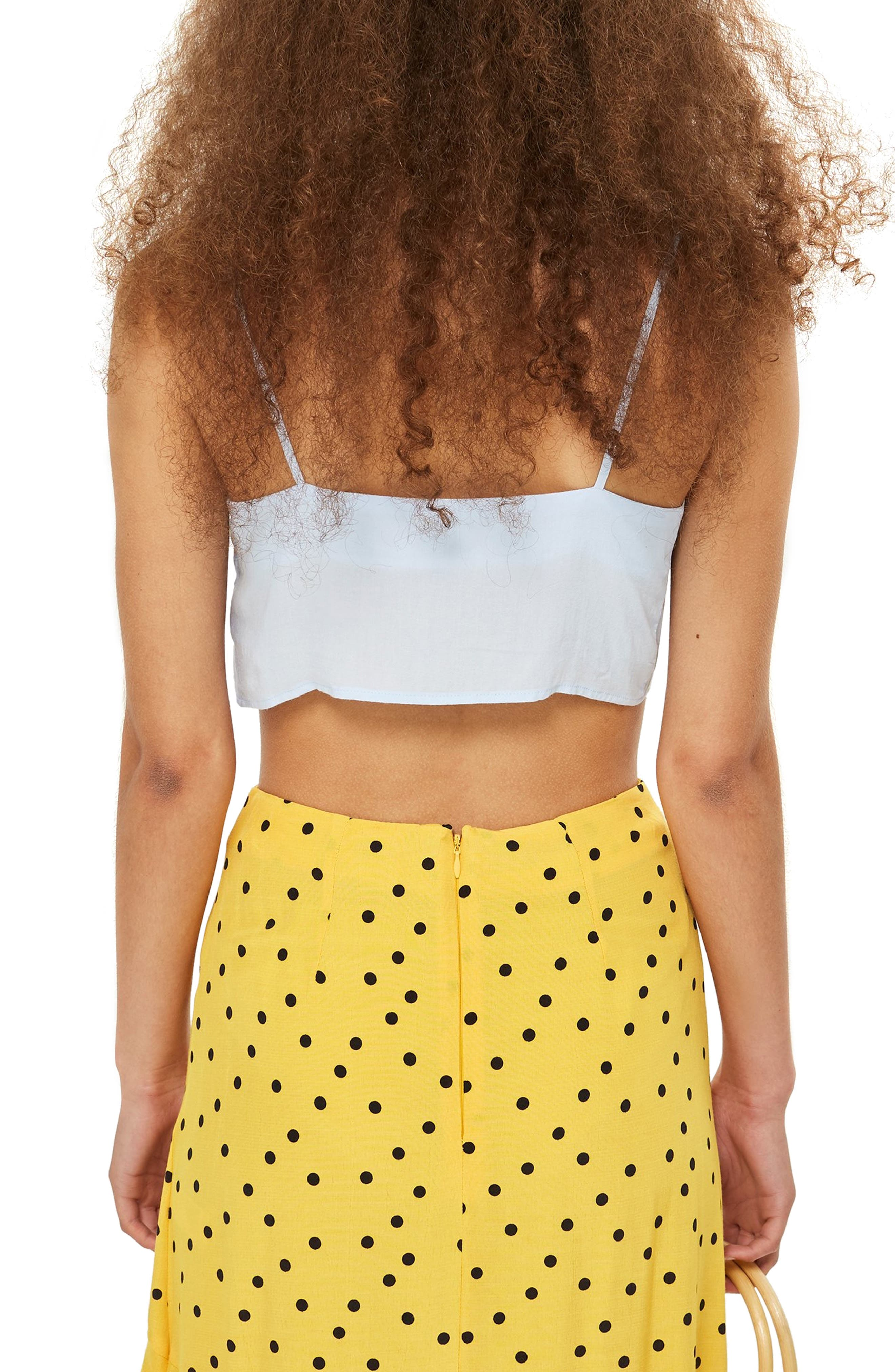 Knot Front Crop Camisole Top,                             Alternate thumbnail 2, color,                             450