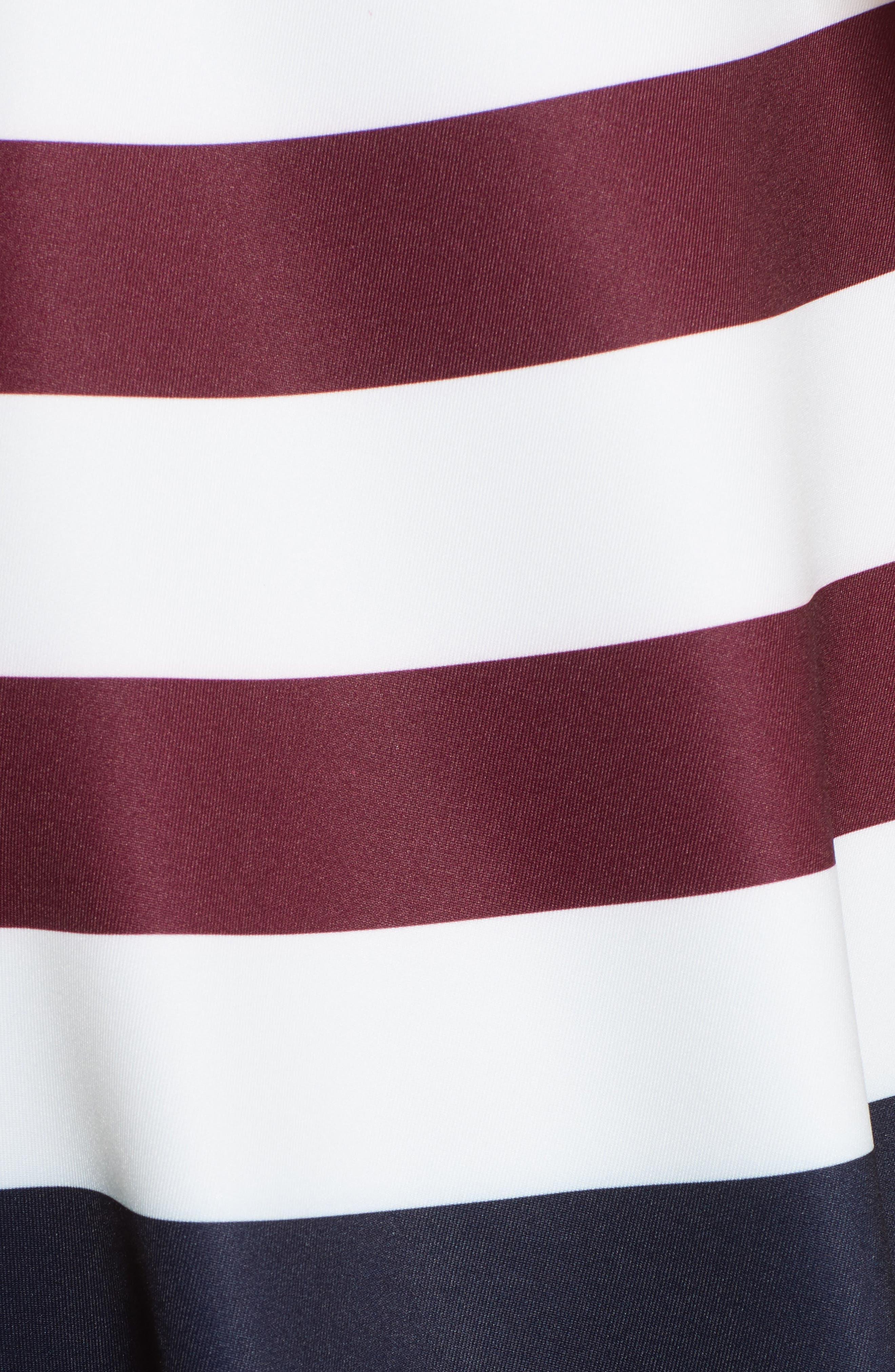 Rowing Stripe Skater Dress,                             Alternate thumbnail 5, color,                             410