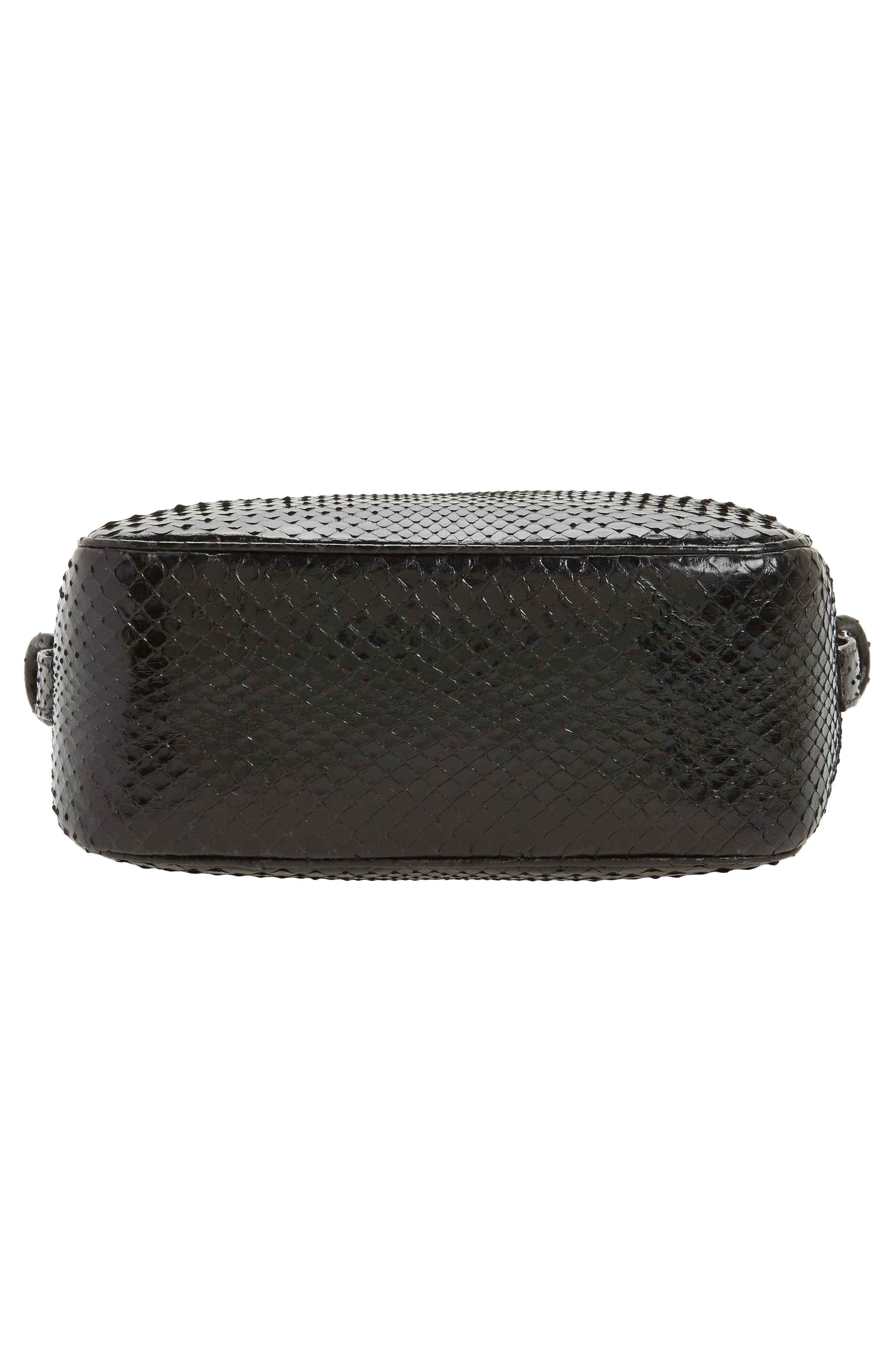 Genuine Python Shoulder Bag,                             Alternate thumbnail 6, color,                             001