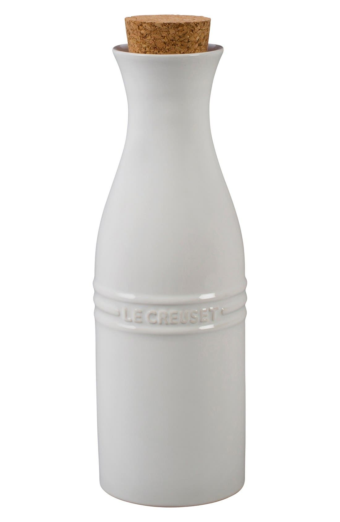 Glazed Stoneware Wine Carafe with Cork,                             Main thumbnail 1, color,                             100