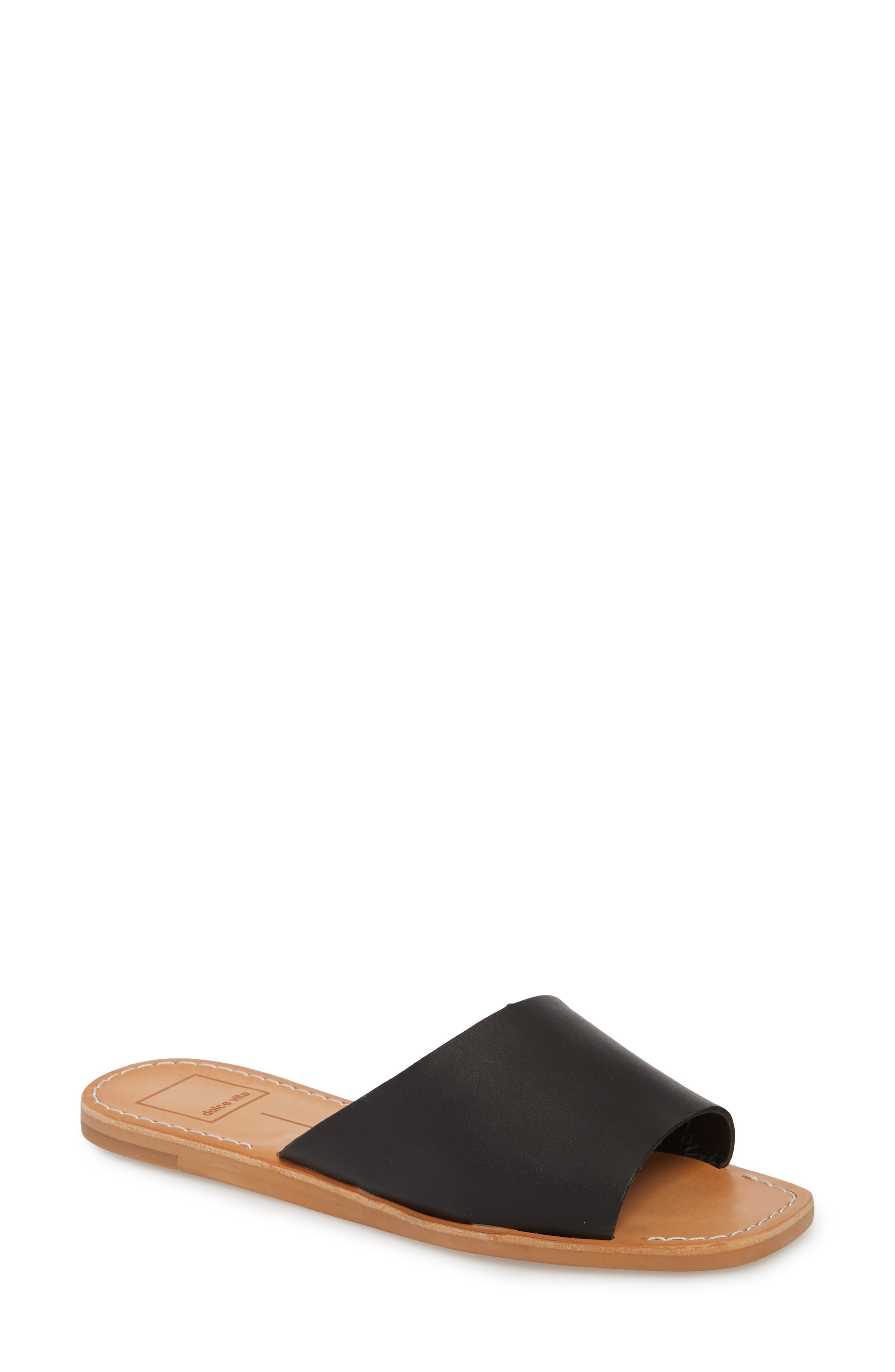 Cato Asymmetrical Slide Sandal,                         Main,                         color, 001
