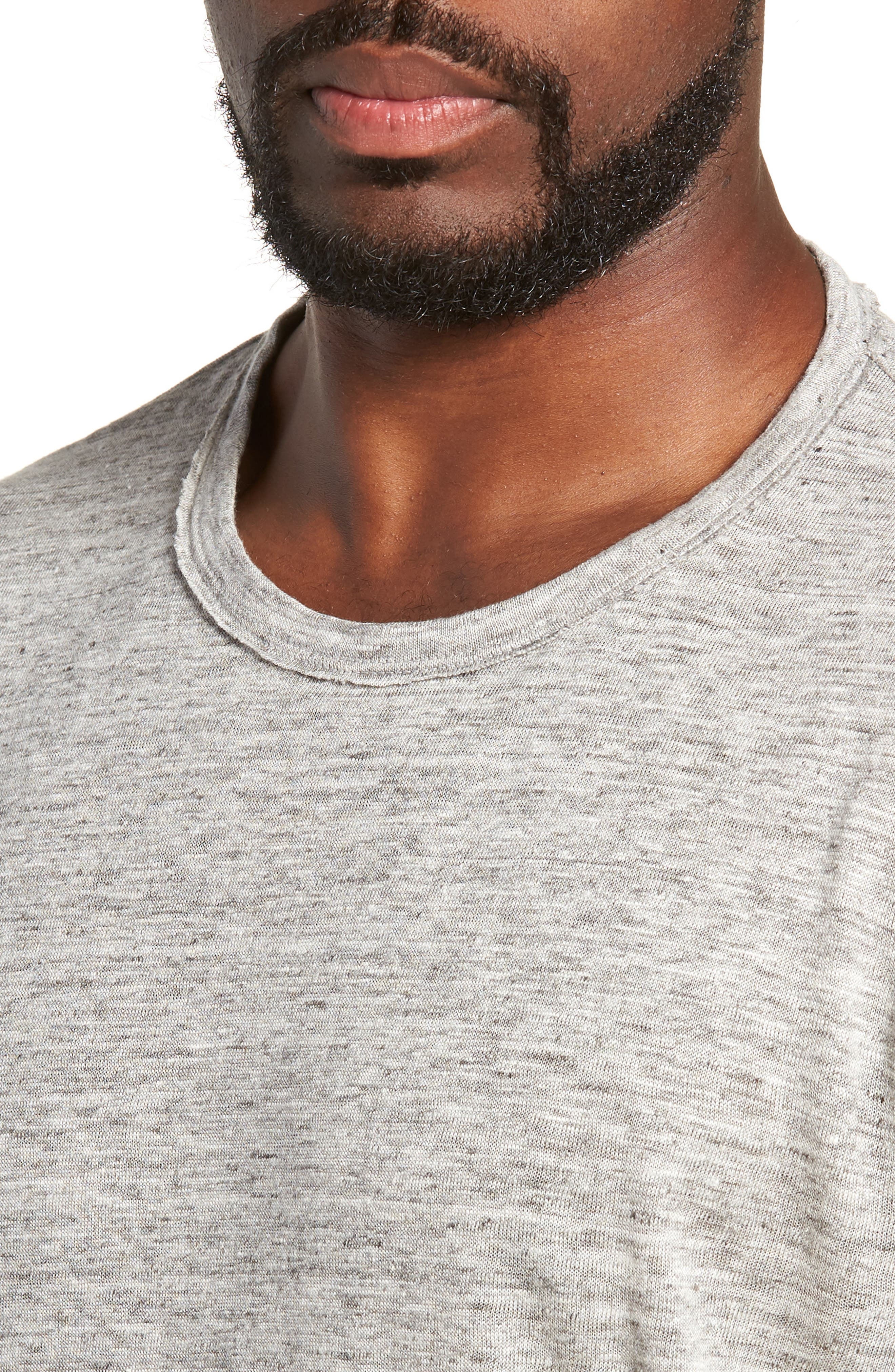 Owen Linen Long Sleeve T-Shirt,                             Alternate thumbnail 4, color,                             020