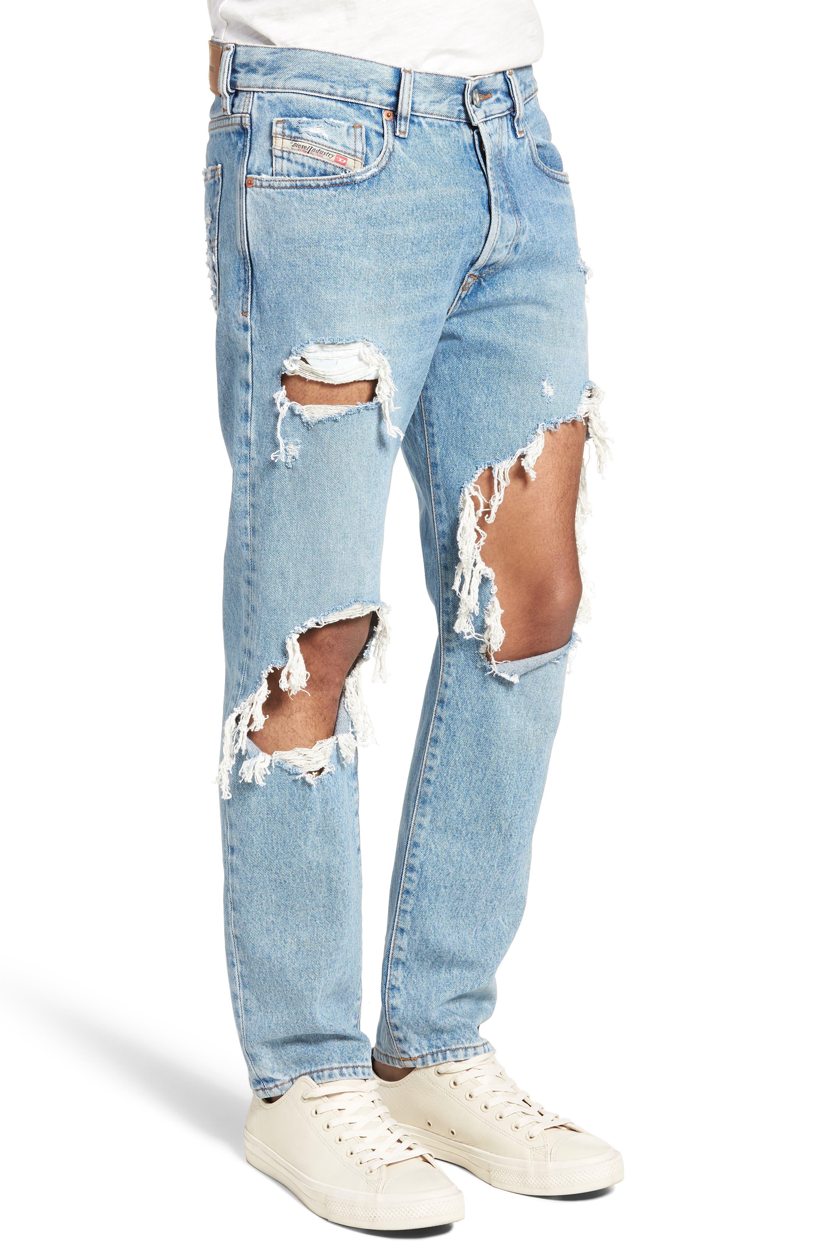 Mharky Slim Straight Leg Jeans,                             Alternate thumbnail 3, color,                             0076M