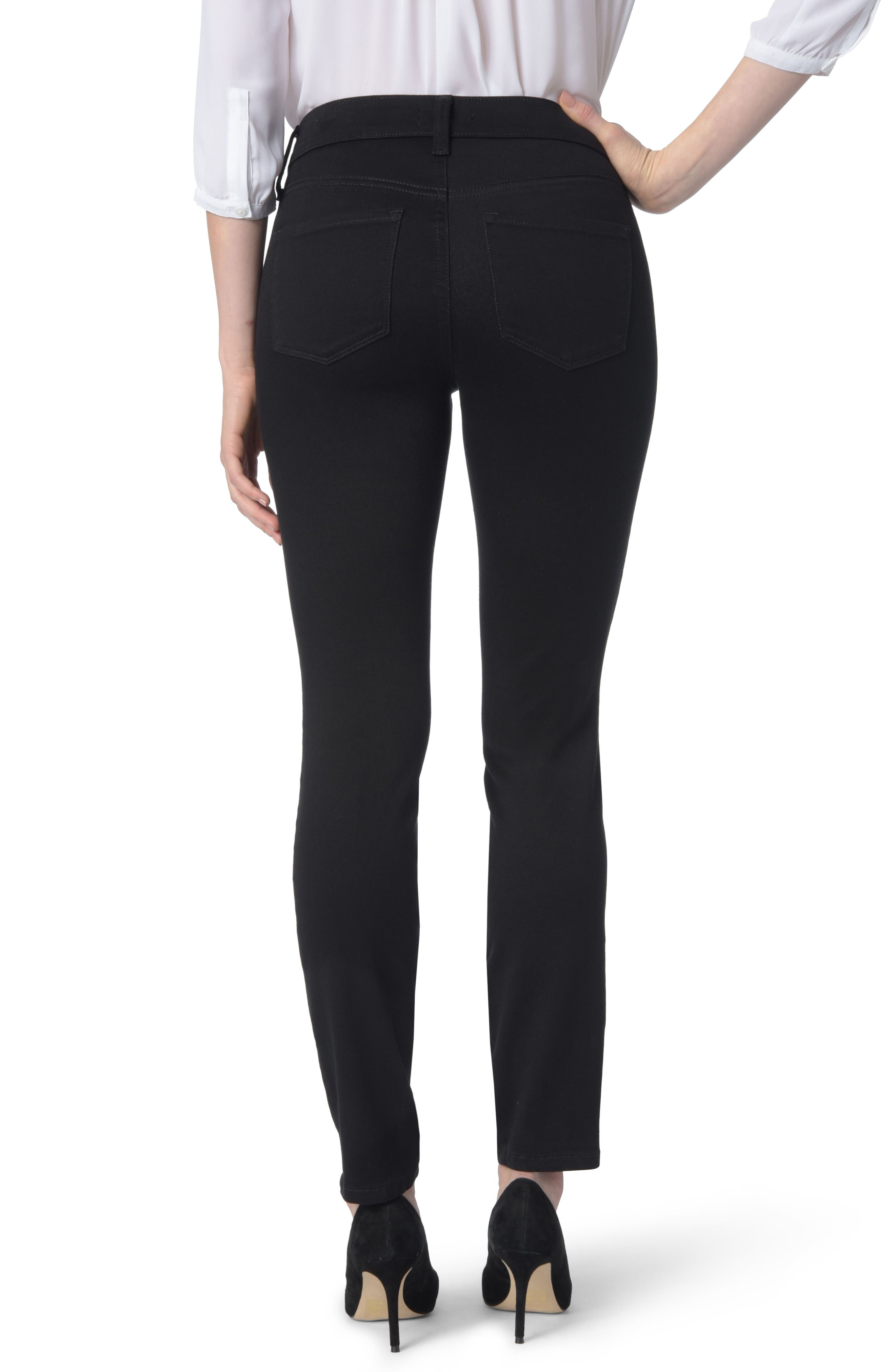 Ami High Waist Colored Stretch Skinny Jeans,                             Alternate thumbnail 2, color,                             BLACK