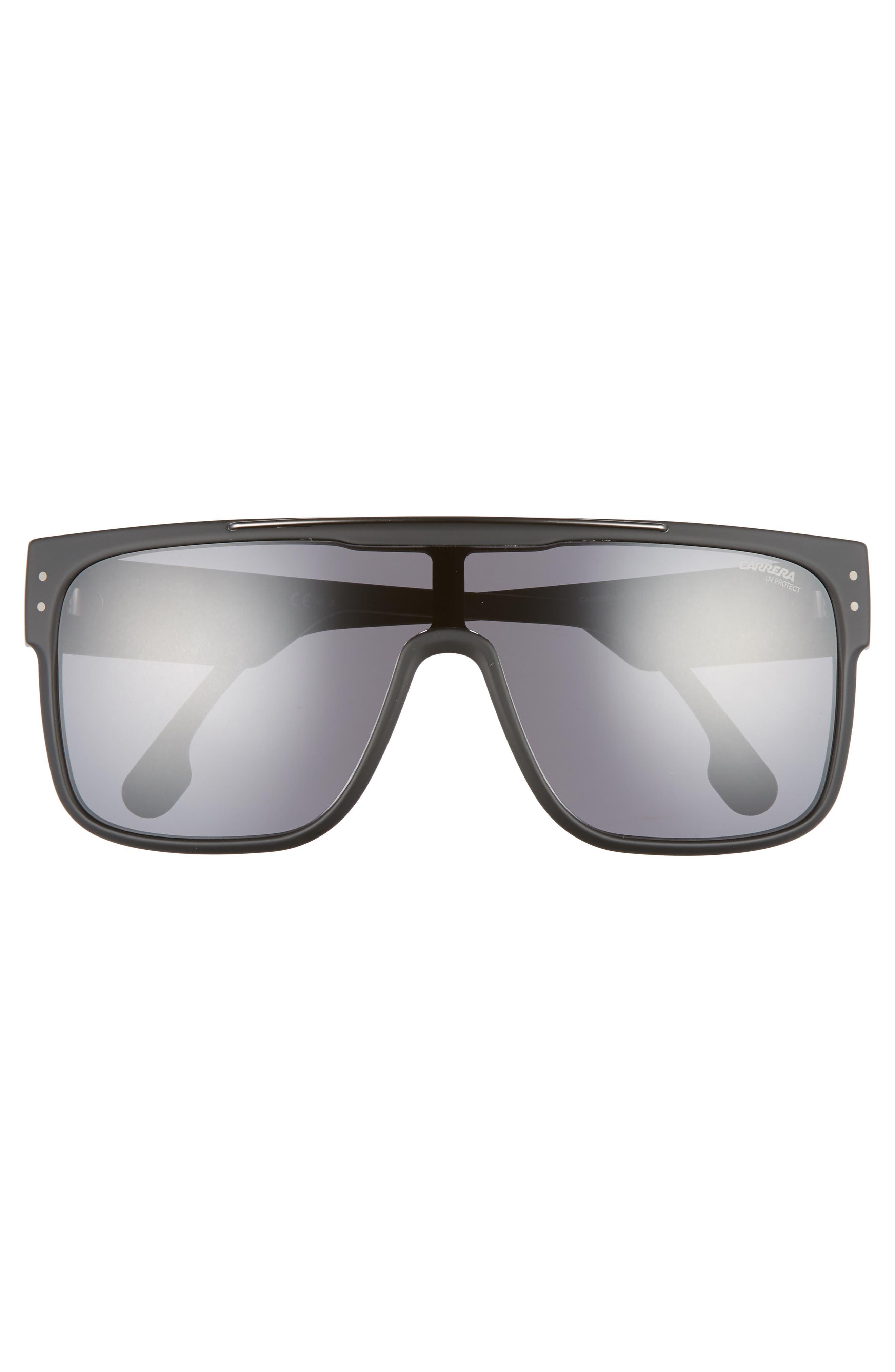 Flagstop II 140mm Flat Top Sunglasses,                             Alternate thumbnail 2, color,                             MATTE BLACK