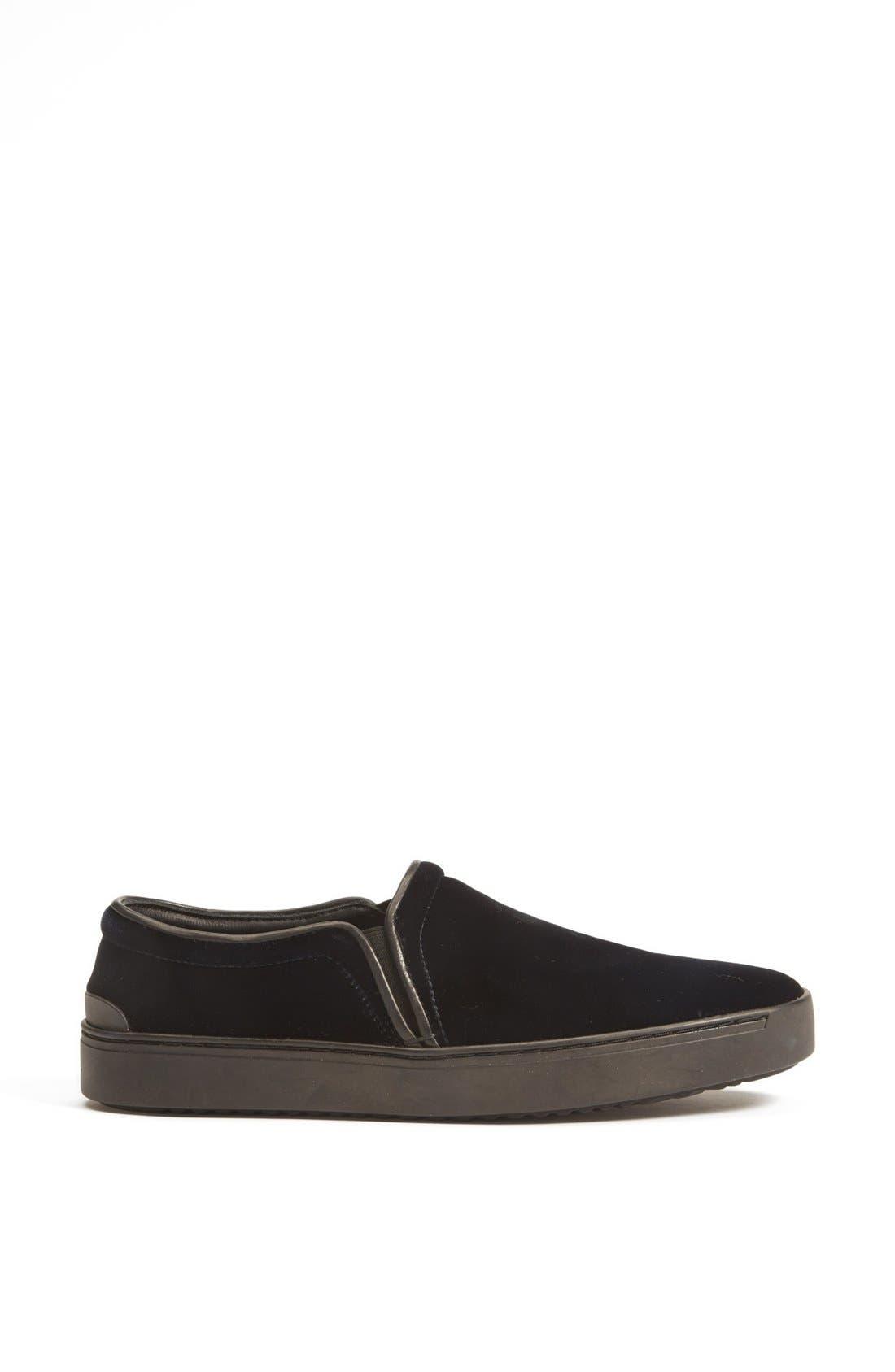 RAG & BONE,                             'Kent' Italian Velvet Slip-On Sneaker,                             Alternate thumbnail 3, color,                             410