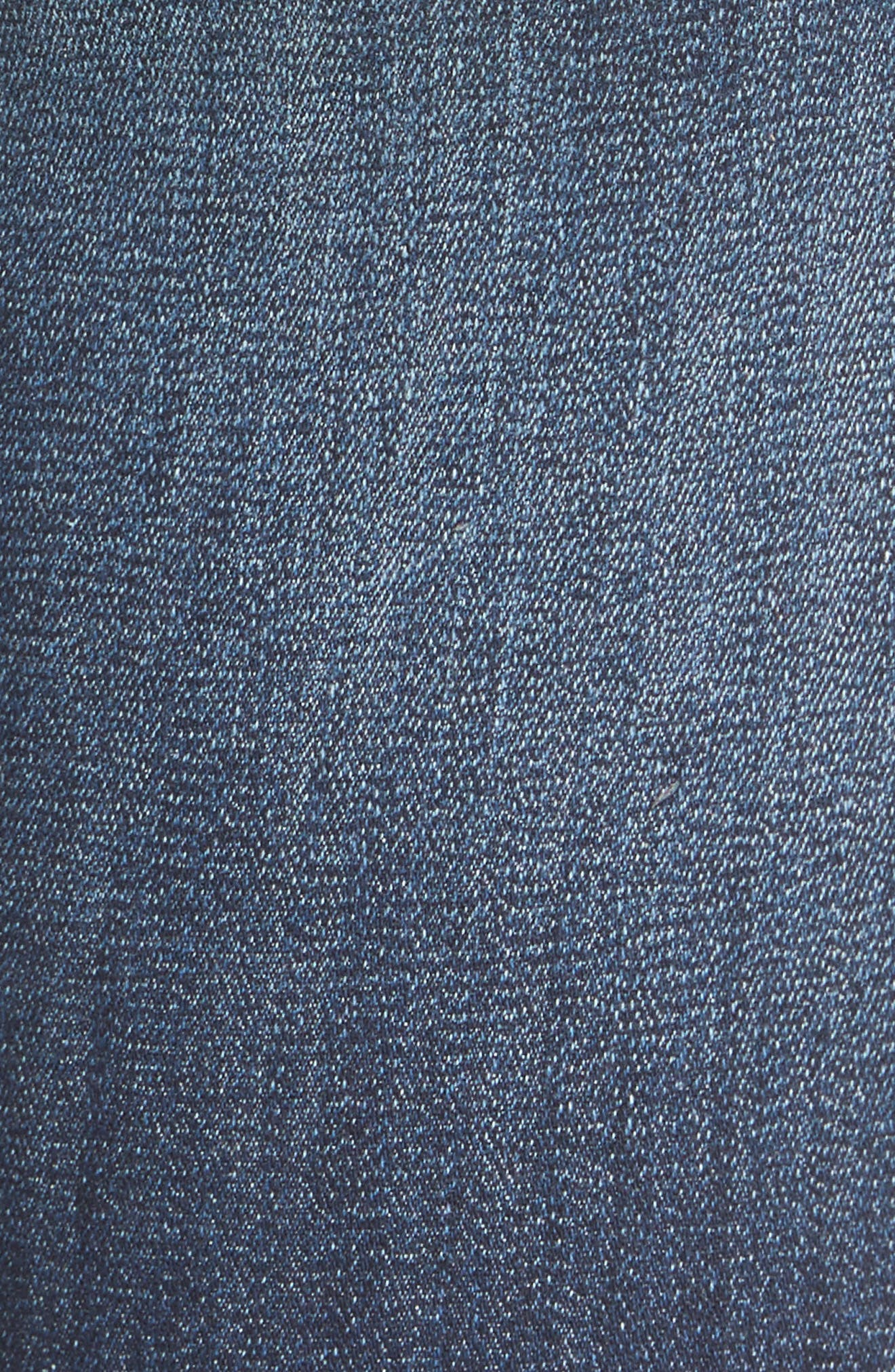 Angled Step Hem High Waist Skinny Jeans,                             Alternate thumbnail 5, color,                             420