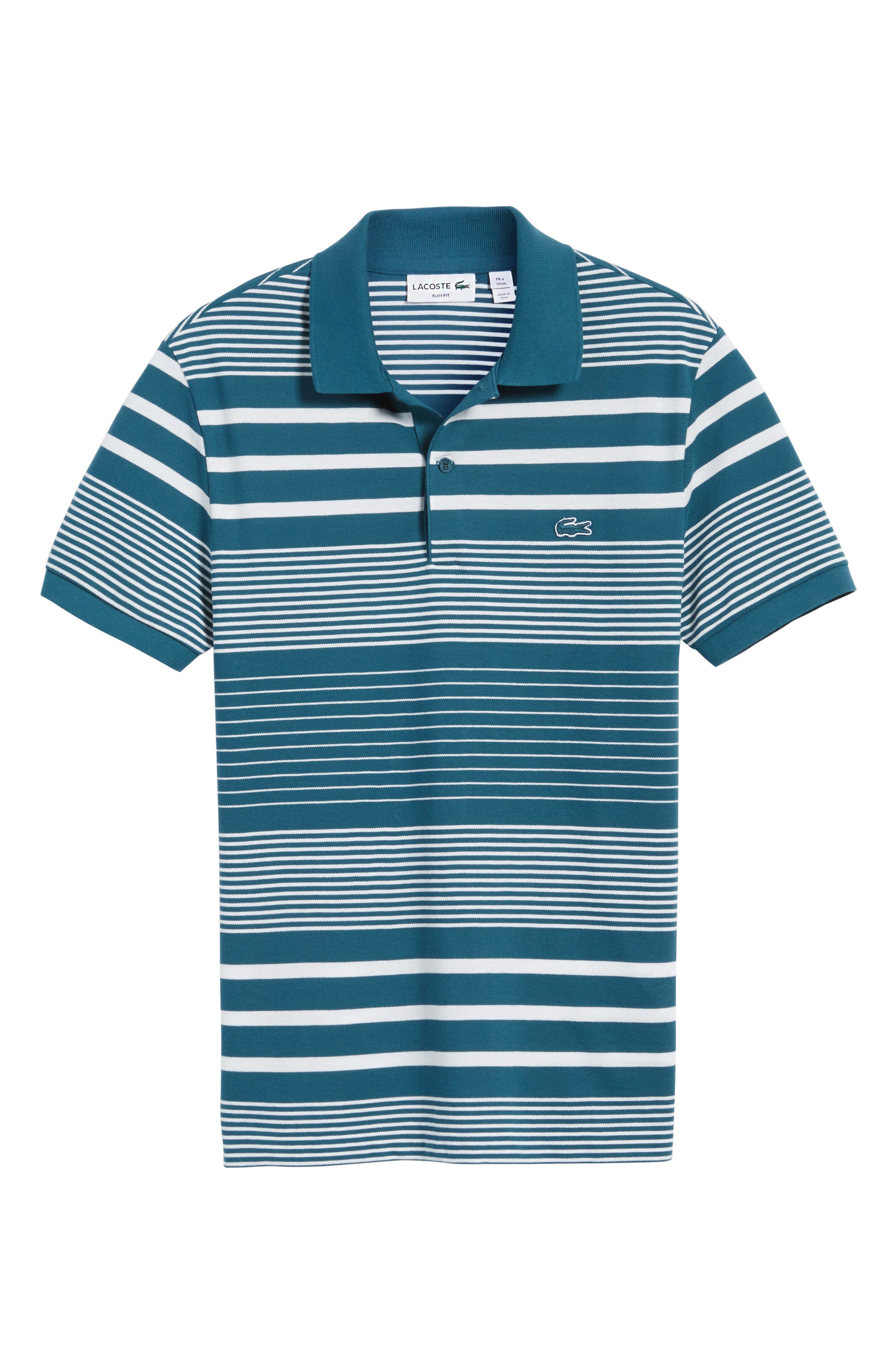 Stripe Piqué Polo,                             Alternate thumbnail 6, color,                             401
