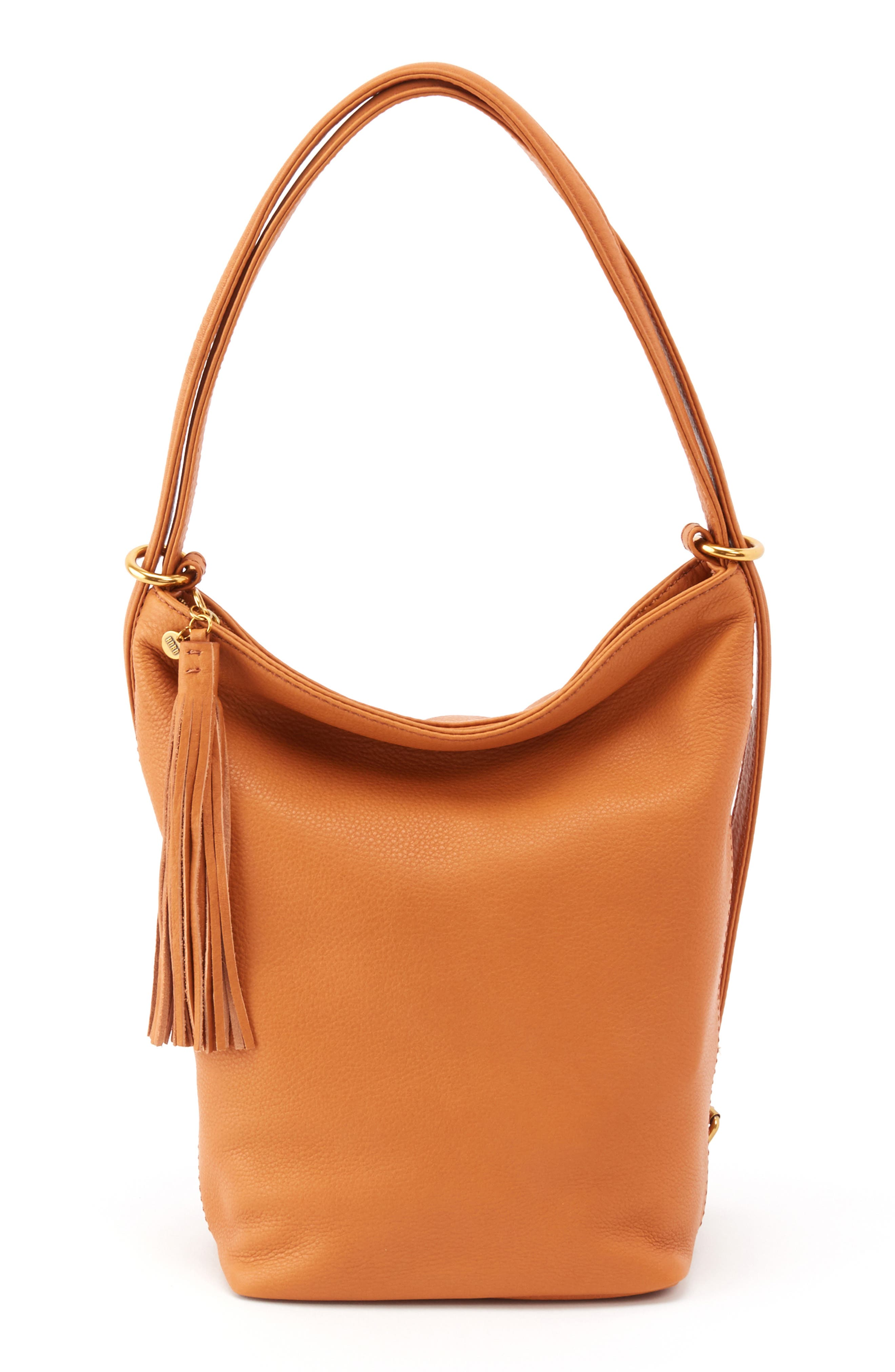 'Blaze' Convertible Leather Shoulder Bag,                             Main thumbnail 1, color,                             WHISKEY
