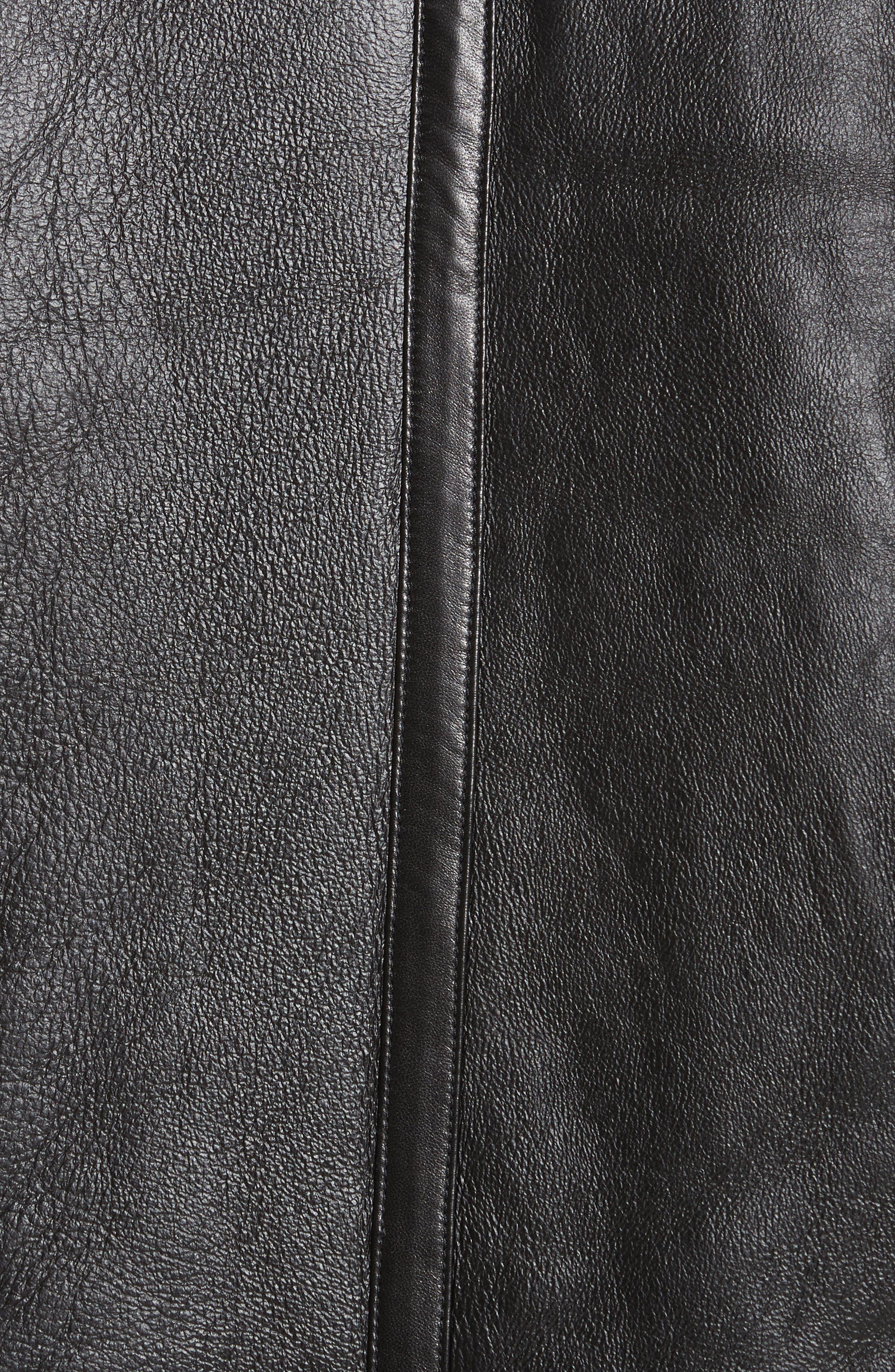 Genuine Shearling Jacket,                             Alternate thumbnail 6, color,                             001