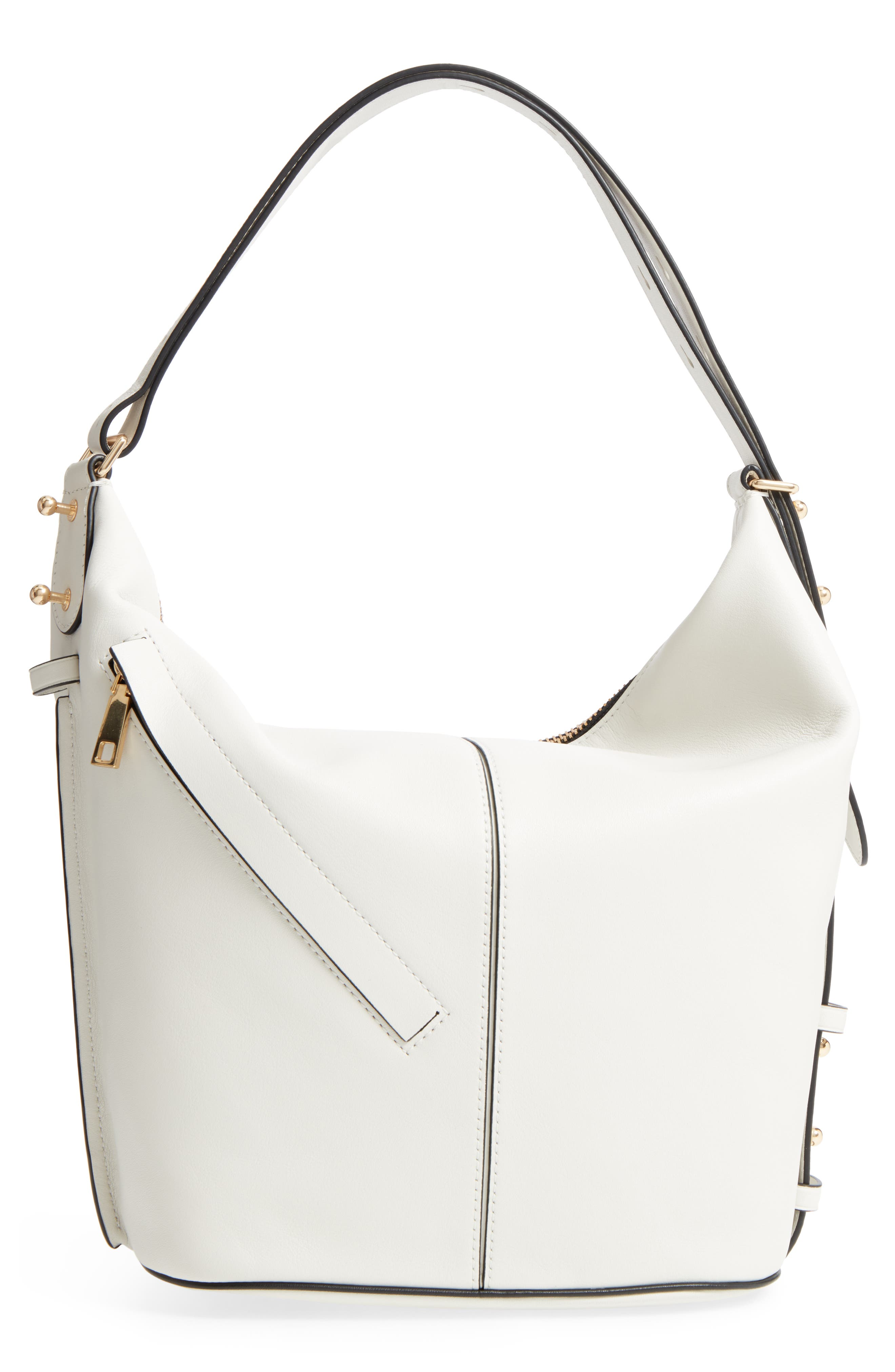 The Sling Convertible Leather Hobo,                             Alternate thumbnail 3, color,                             103