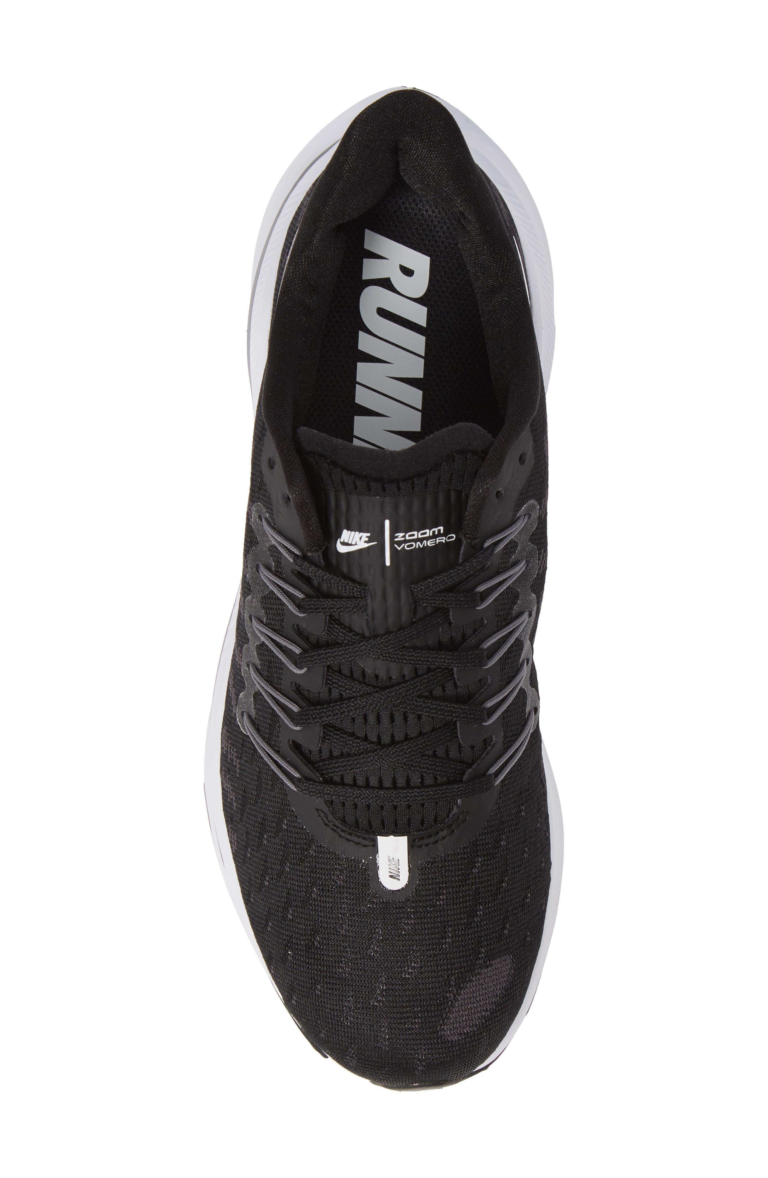 Air Zoom Vomero 14 Running Shoe,                             Alternate thumbnail 5, color,                             BLACK/ WHITE/ THUNDER GREY