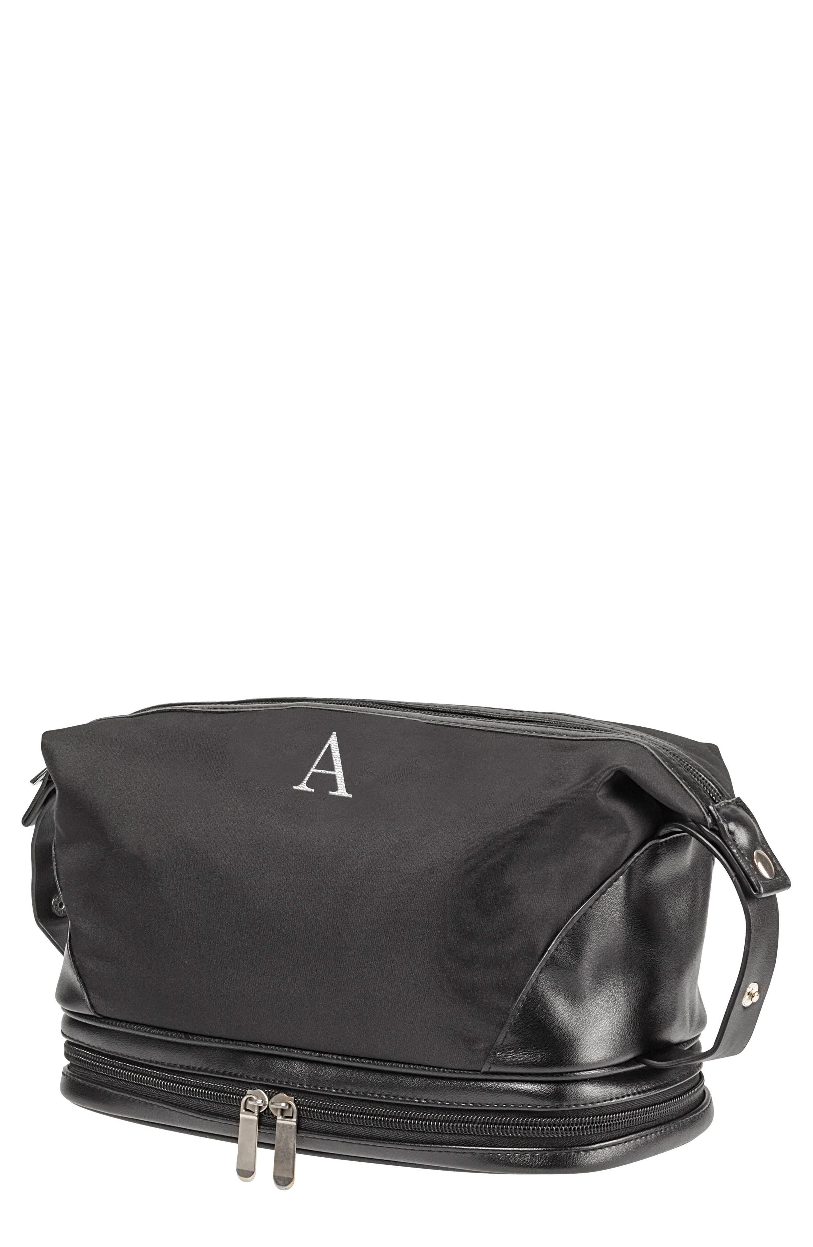 Monogram Toiletry Bag,                         Main,                         color, BLACK A