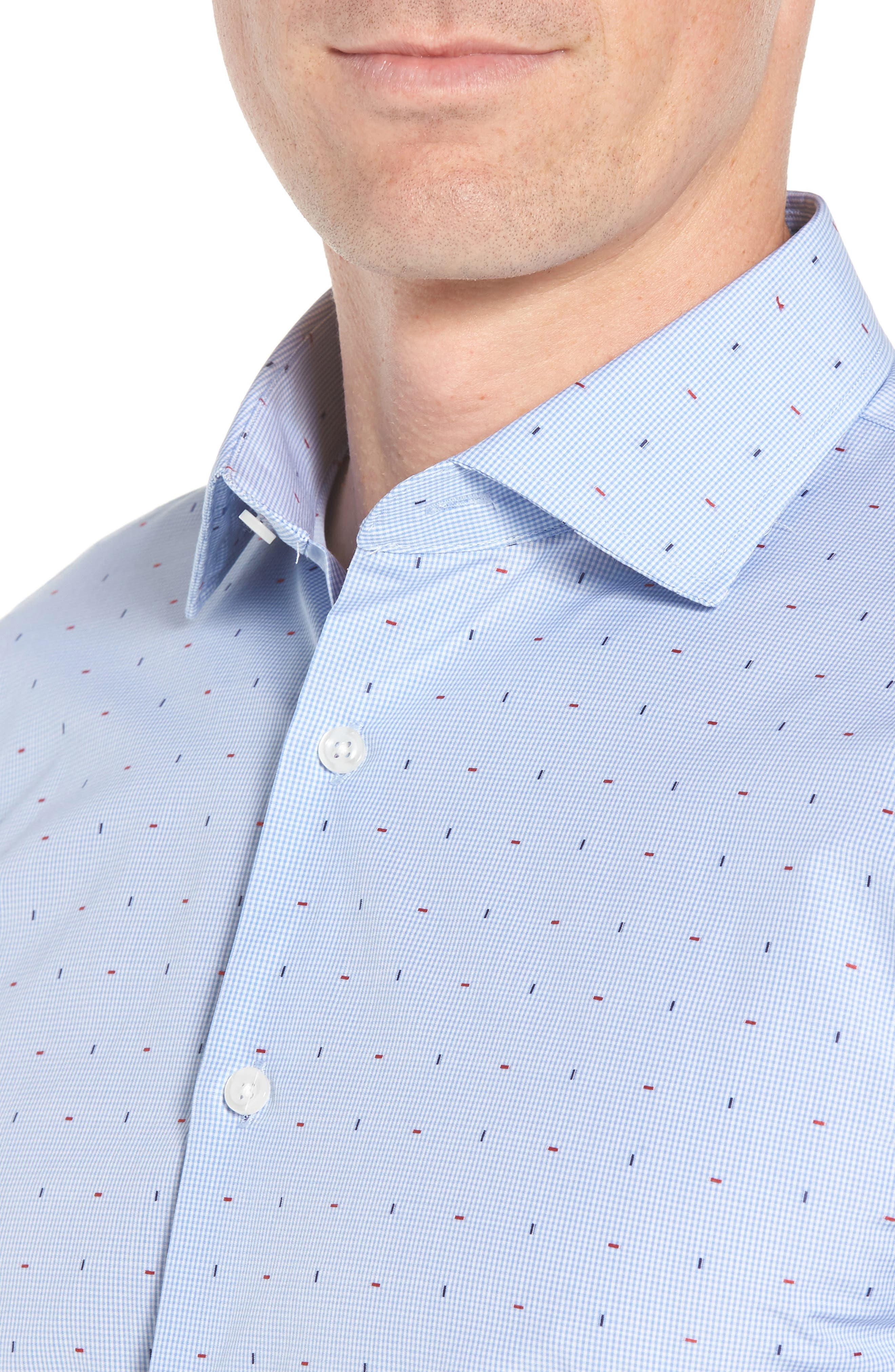 JOHN W. NORDSTROM<SUP>®</SUP>,                             Traditional Fit Check Dress Shirt,                             Alternate thumbnail 2, color,                             420