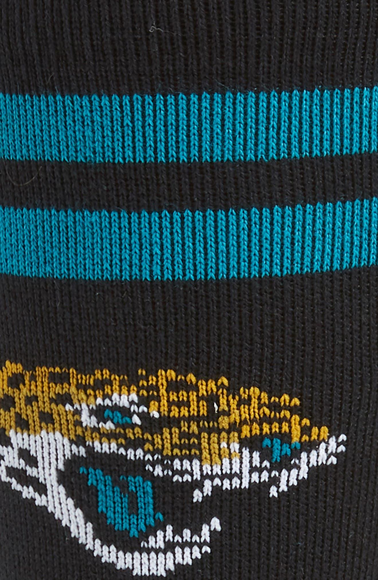 Jacksonville Jaguars Socks,                             Alternate thumbnail 2, color,                             BLACK