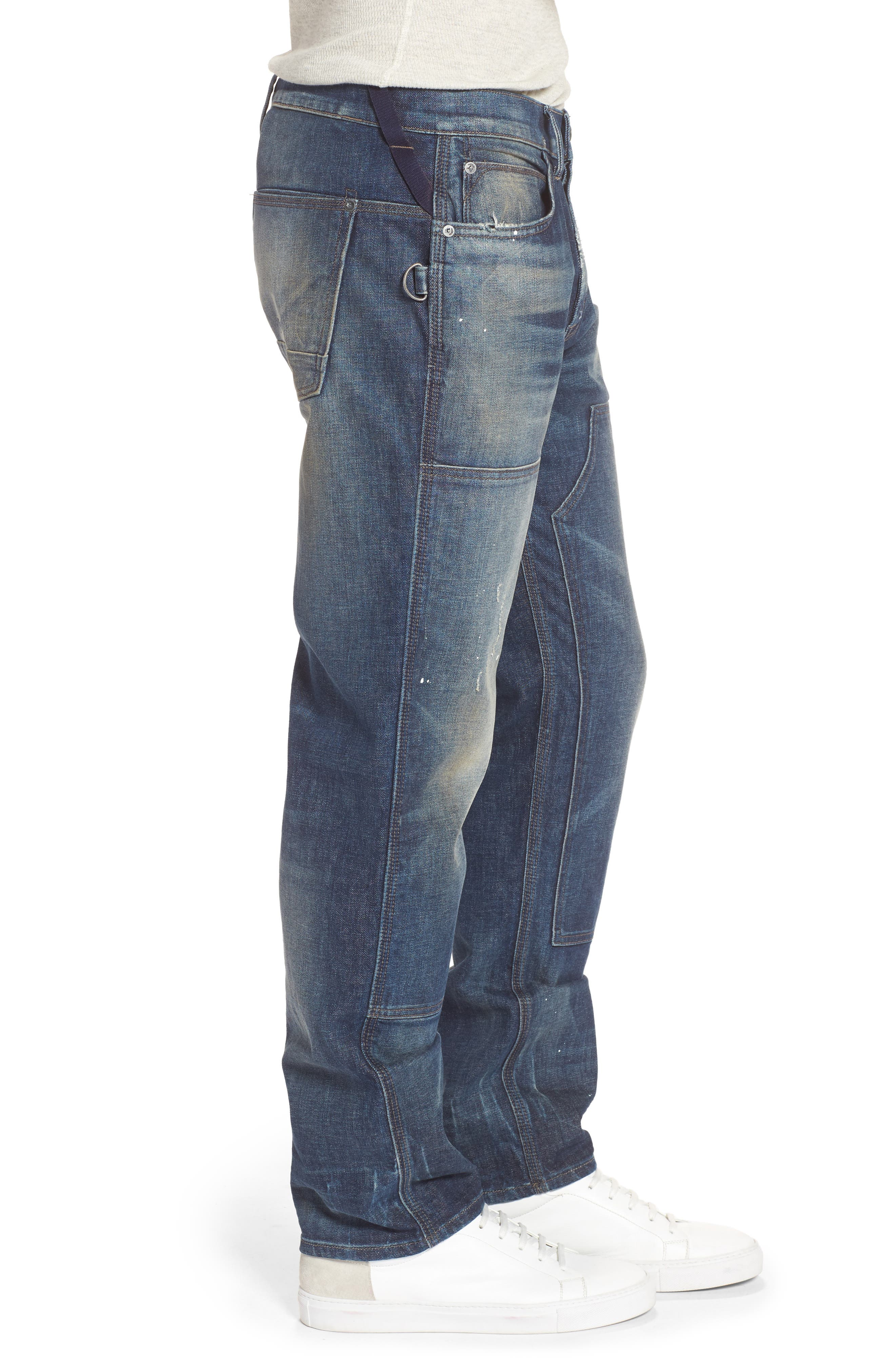 Hunter Straight Fit Jeans,                             Alternate thumbnail 3, color,                             422