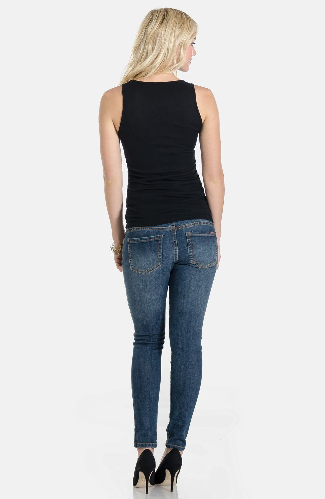 Skinny Maternity Jeans,                             Alternate thumbnail 23, color,