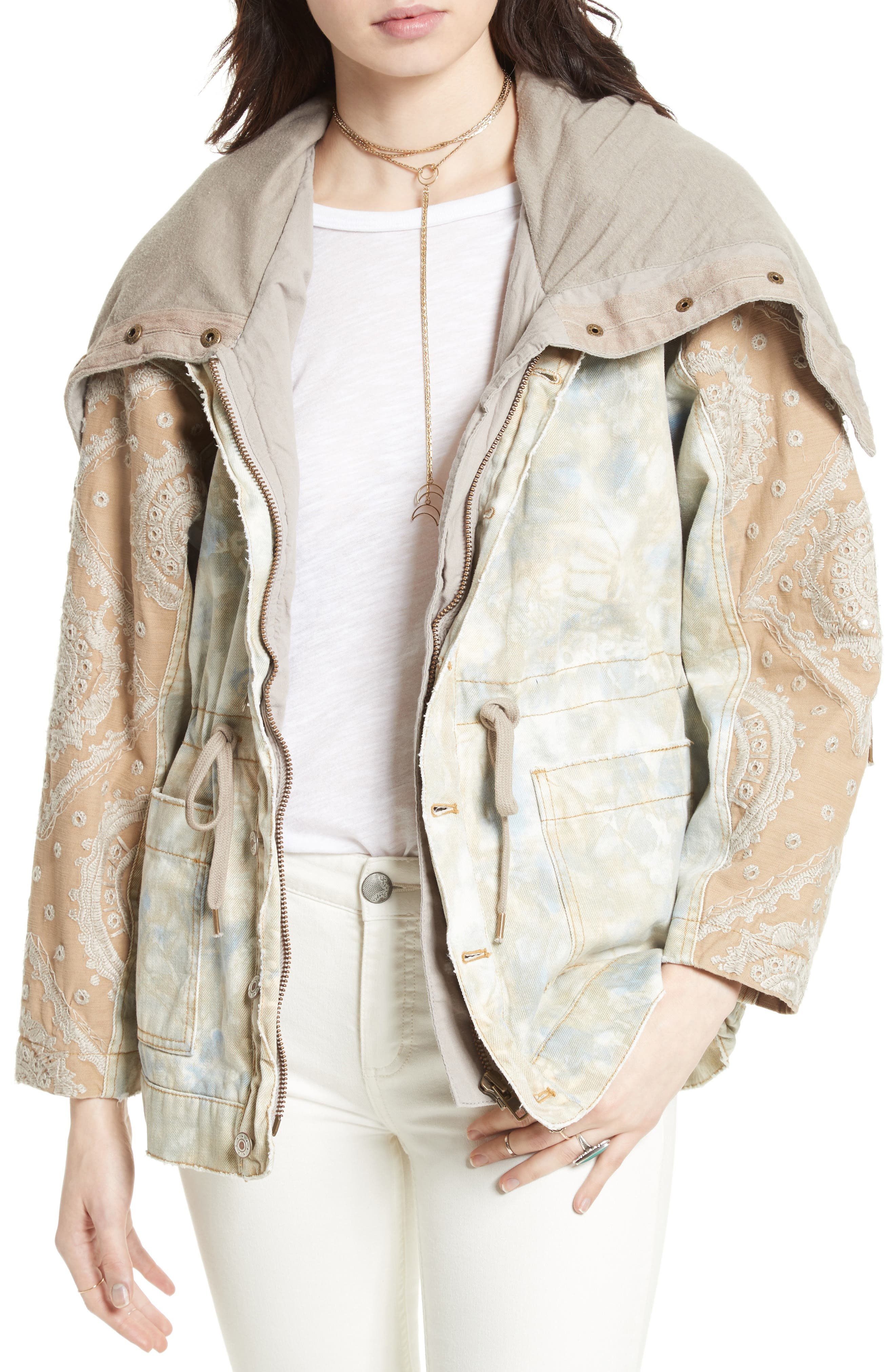 FREE PEOPLE Layered Parka, Main, color, 250