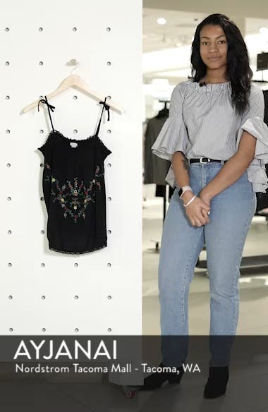 Embroidered Vintage Camisole Top, sales video thumbnail