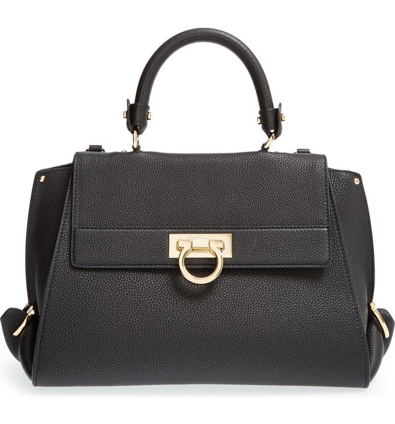 Salvatore Ferragamo  Medium Sofia  Leather Satchel  b4461beb14d7b