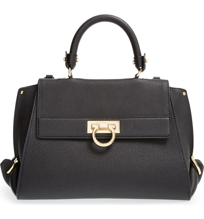 Salvatore Ferragamo  Medium Sofia  Leather Satchel  e201bb7b92118