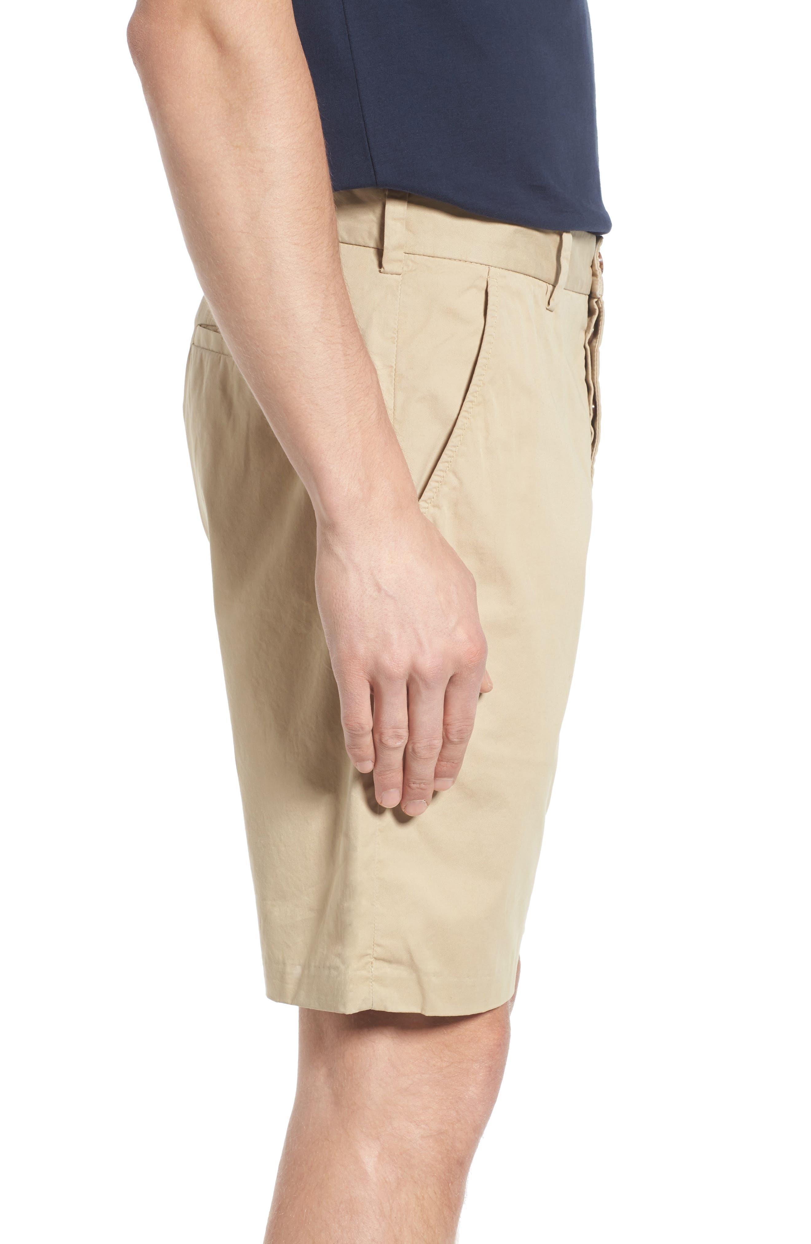 Peach Pie Flat Front Shorts,                             Alternate thumbnail 3, color,                             260
