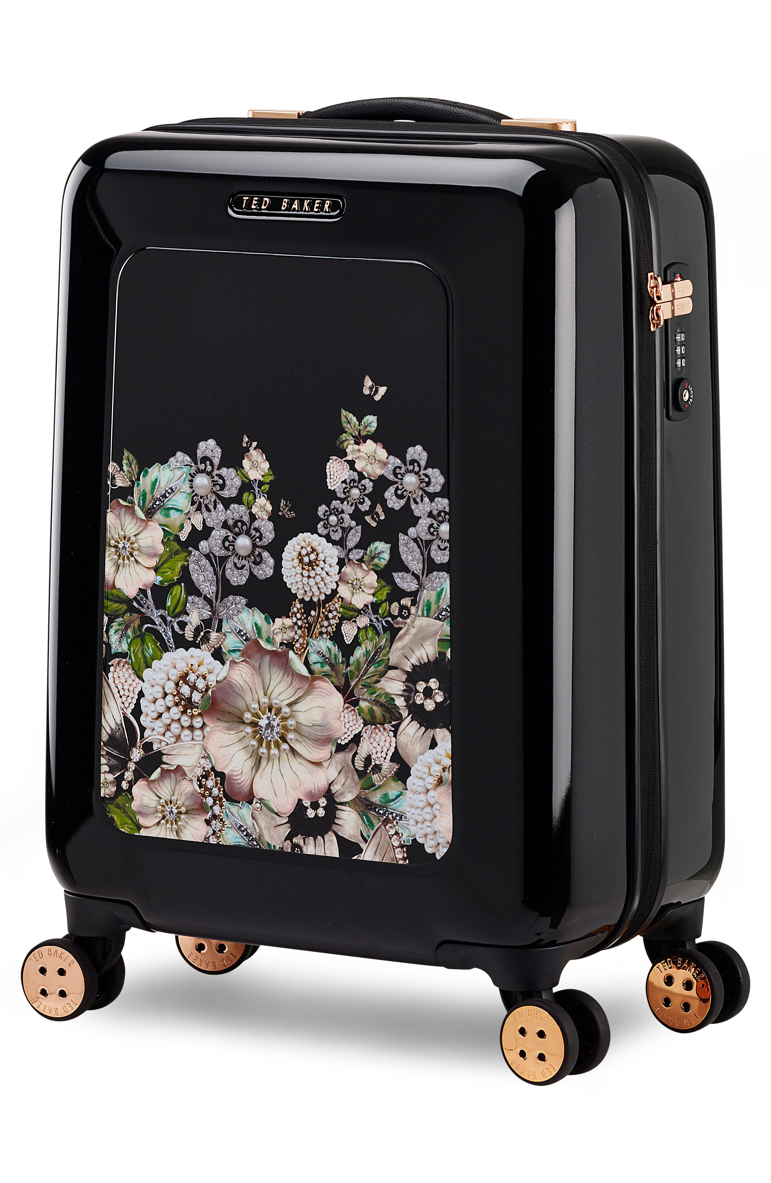 Small 21-Inch Four-Wheel Suitcase,                             Alternate thumbnail 3, color,                             001