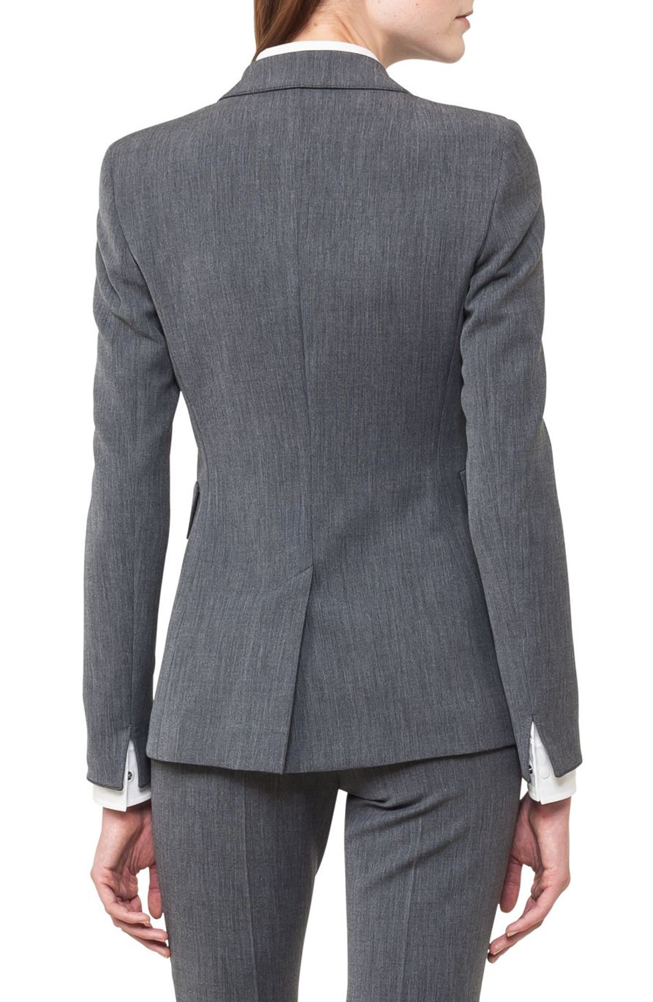 Mélange Jersey Blazer,                             Alternate thumbnail 2, color,                             001