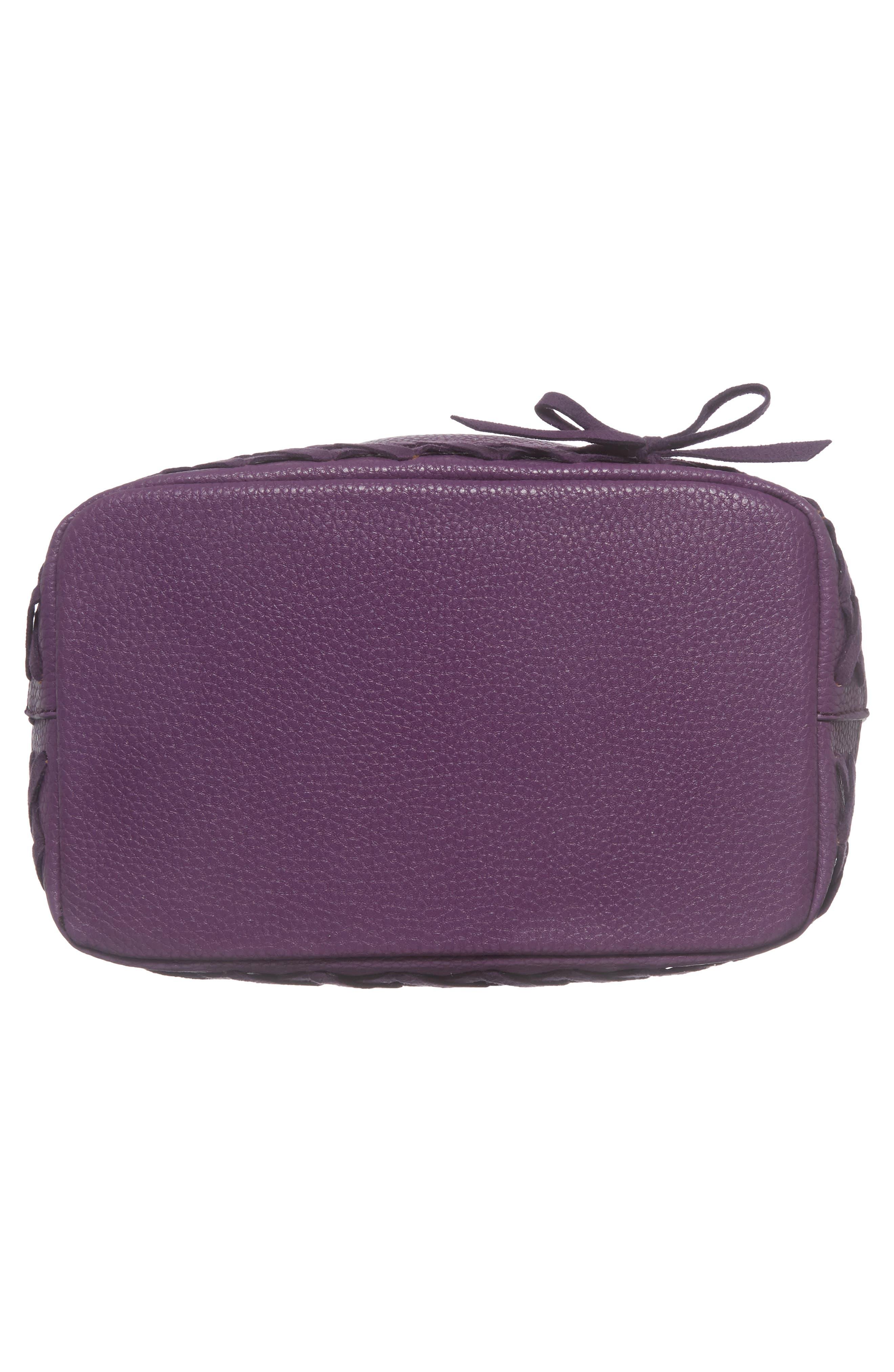 Veronica Faux Leather Bucket Bag,                             Alternate thumbnail 12, color,