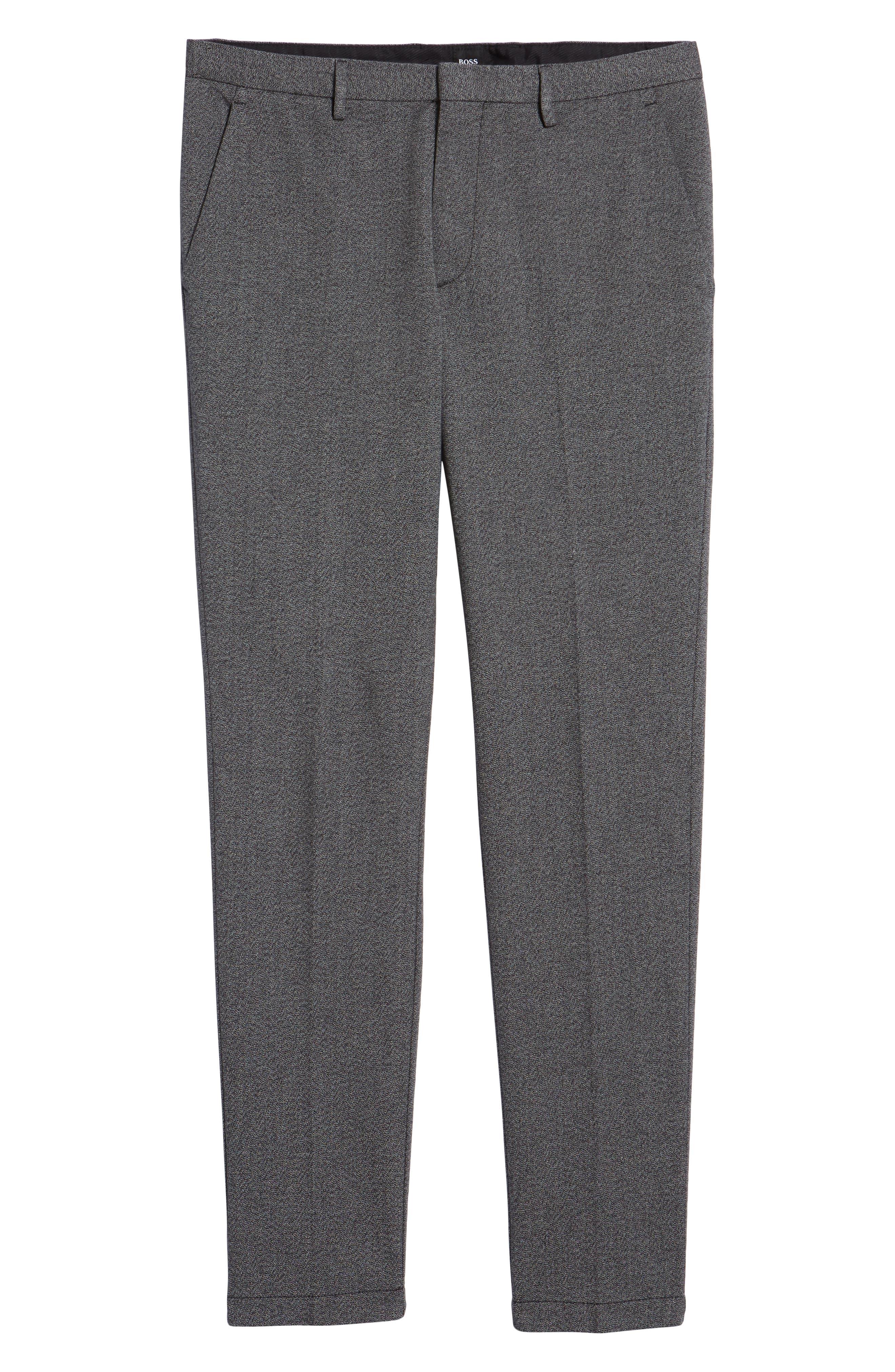 Kaito Slim Fit Twill Trousers,                             Alternate thumbnail 6, color,                             BLACK