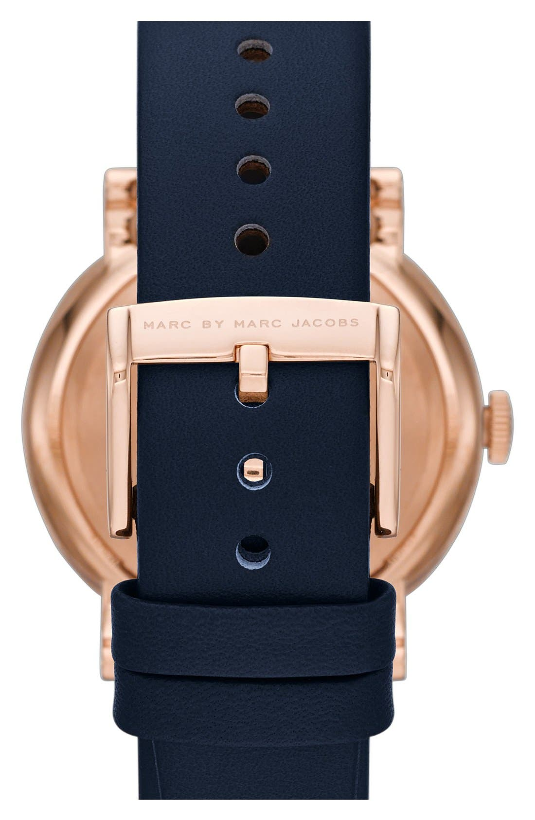 'Baker' Leather Strap Watch, 37mm,                             Alternate thumbnail 38, color,
