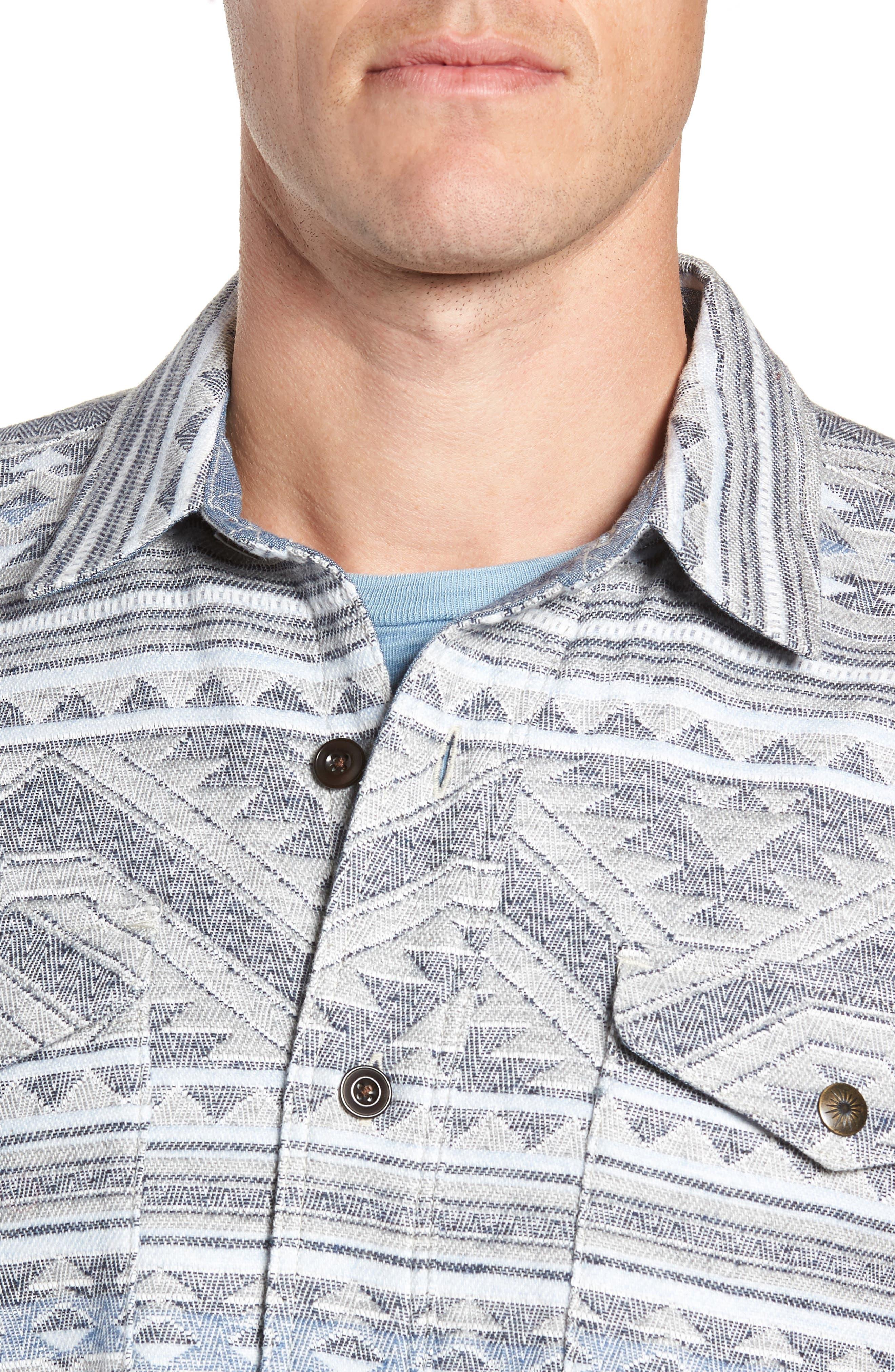 Durango CPO Cotton Work Shirt,                             Alternate thumbnail 4, color,                             TWILIGHT GLACIER
