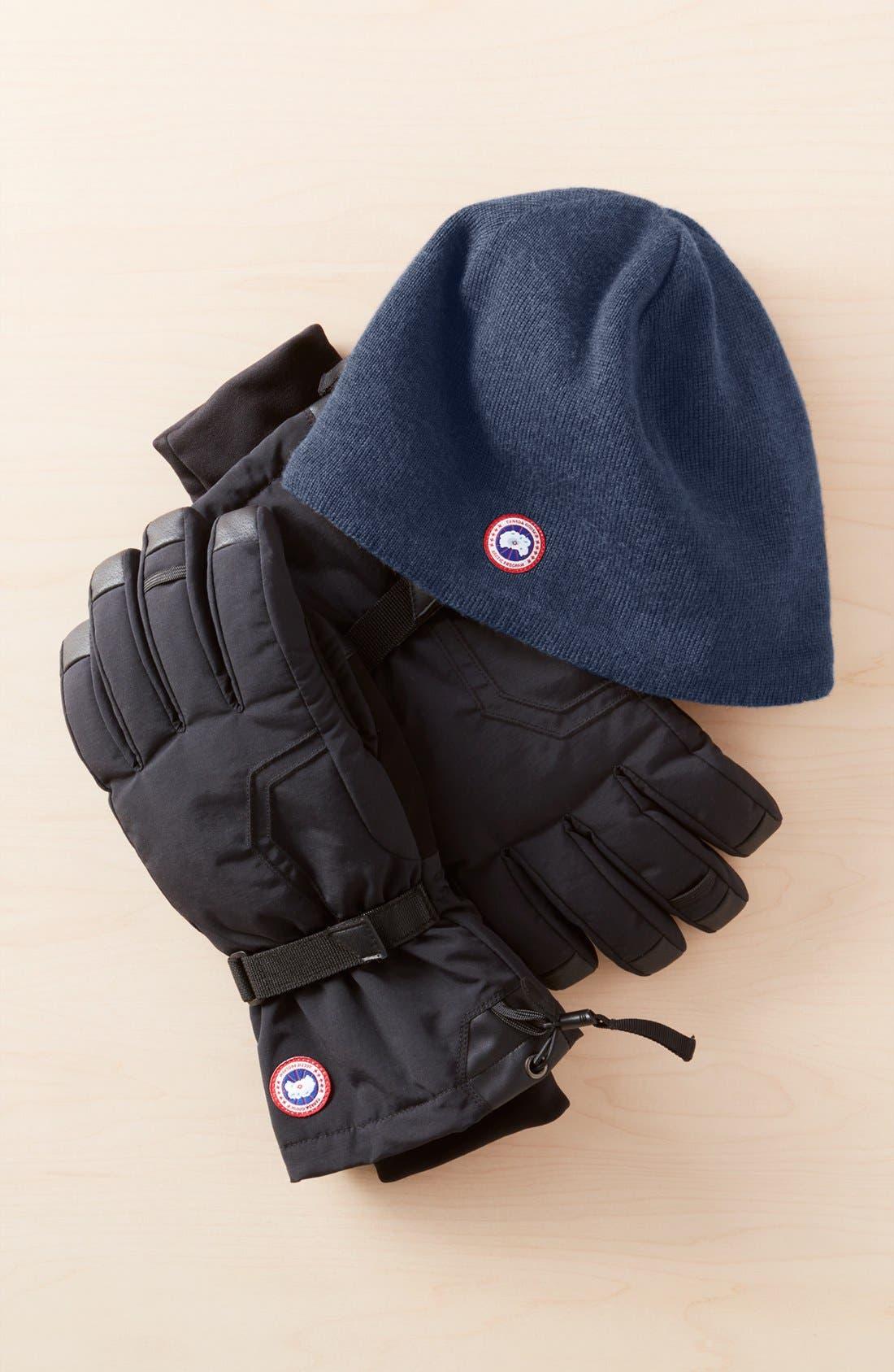 Arctic Down Gloves,                             Alternate thumbnail 3, color,                             BLACK