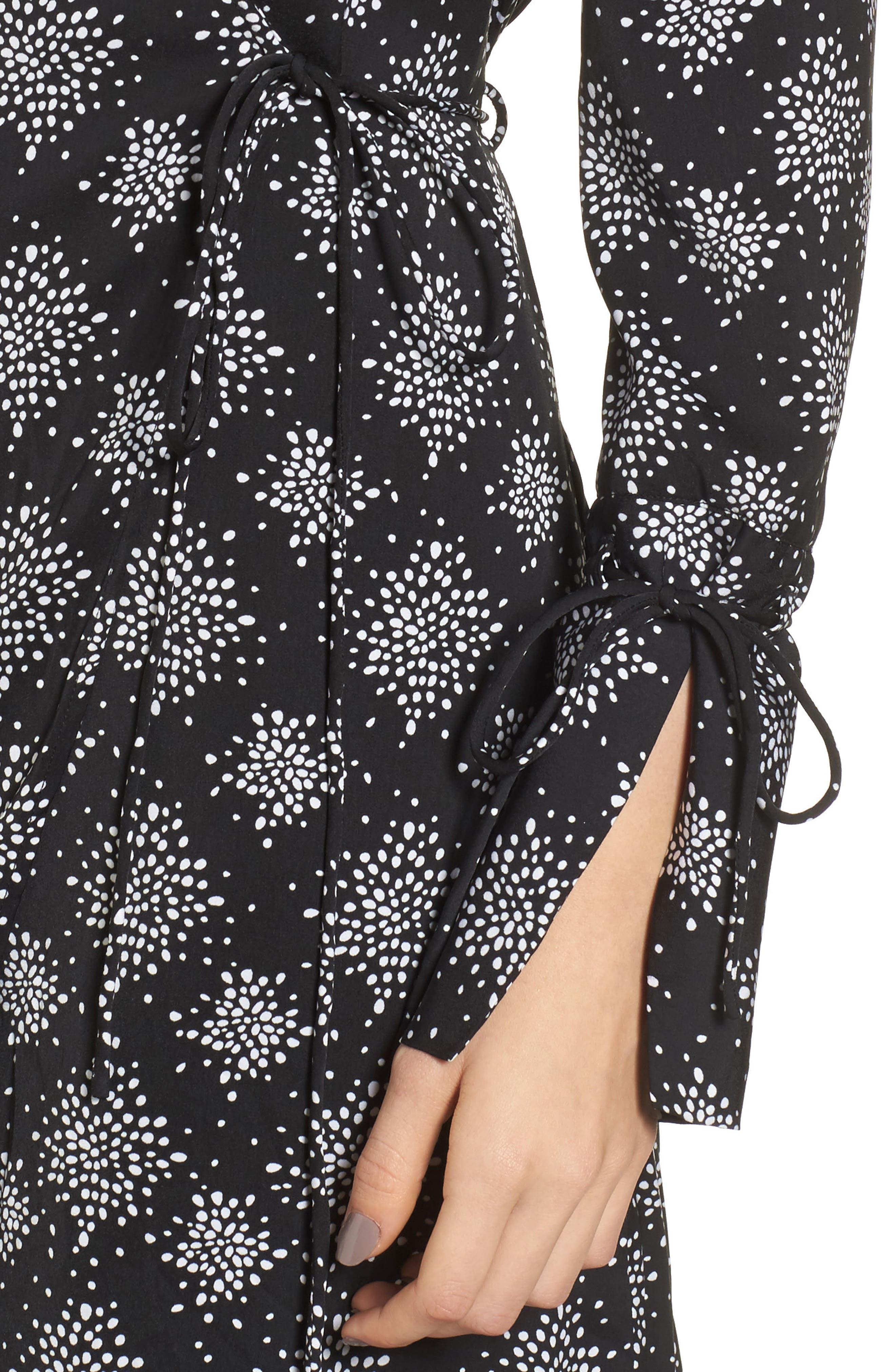 Emergent Wrap Midi Dress,                             Alternate thumbnail 4, color,                             002