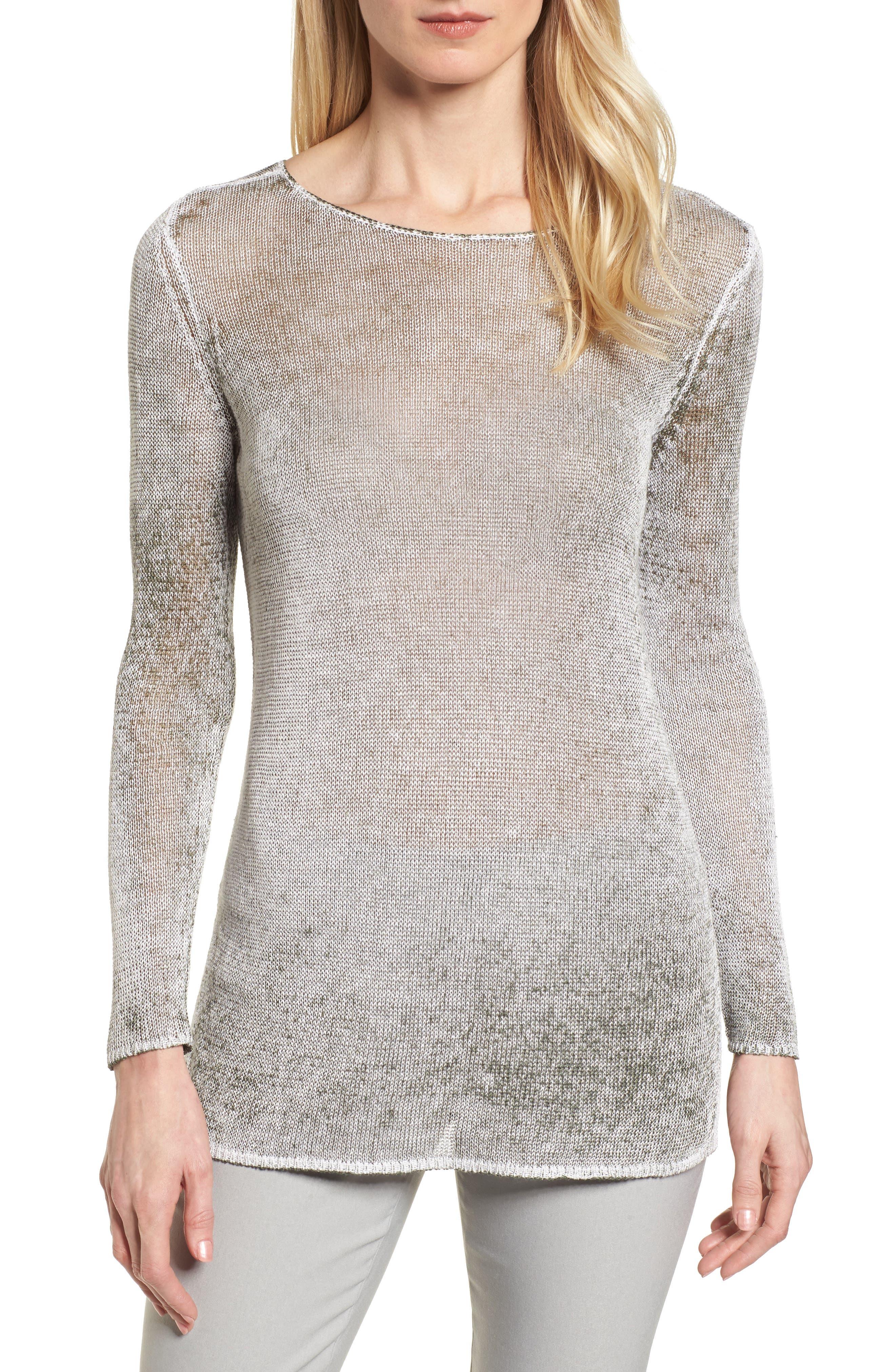 NIC + ZOE Poolside Linen Blend Sweater,                             Main thumbnail 2, color,