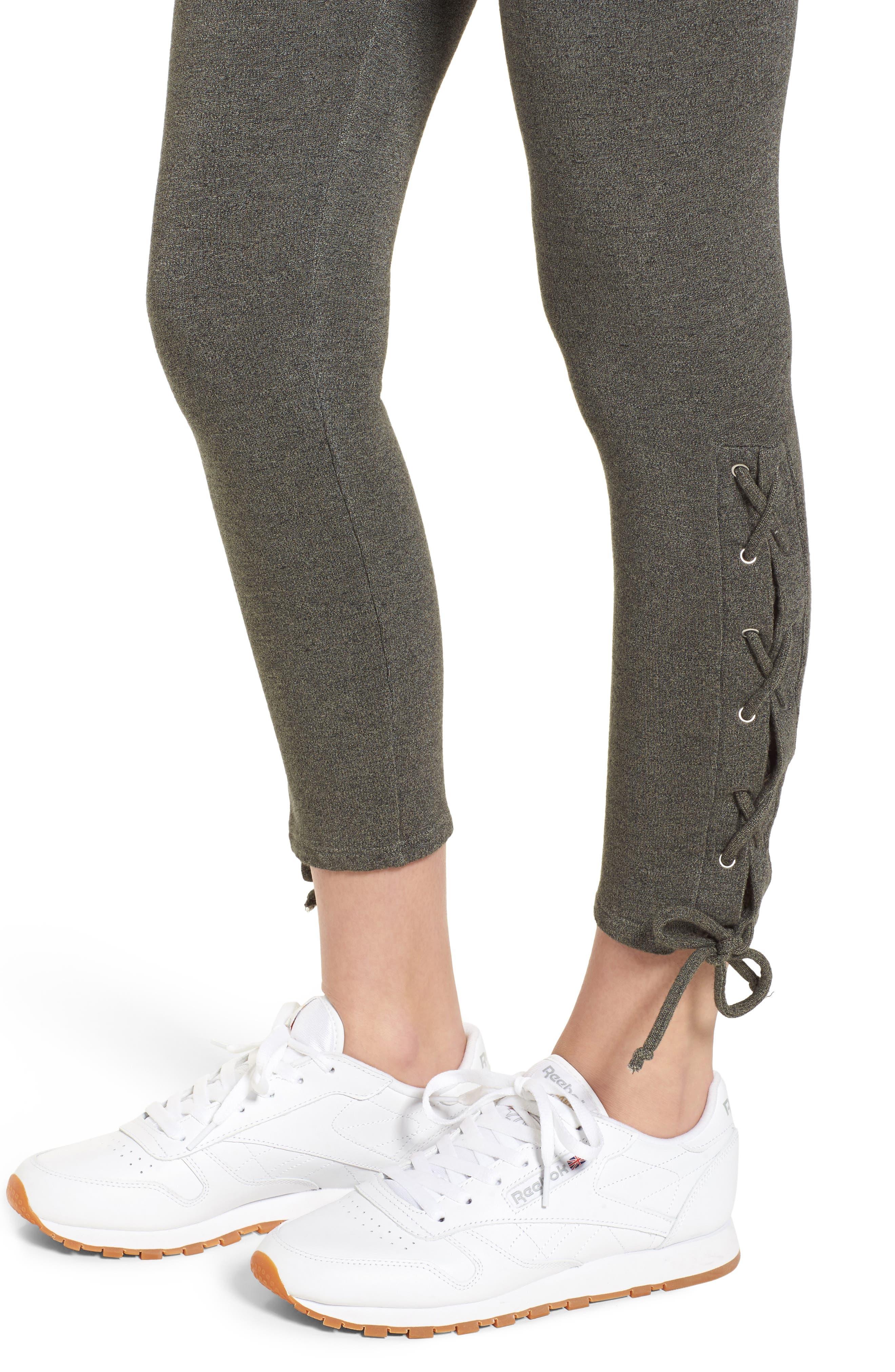 SUNDRY,                             Lace-Up Ankle Leggings,                             Alternate thumbnail 4, color,                             309