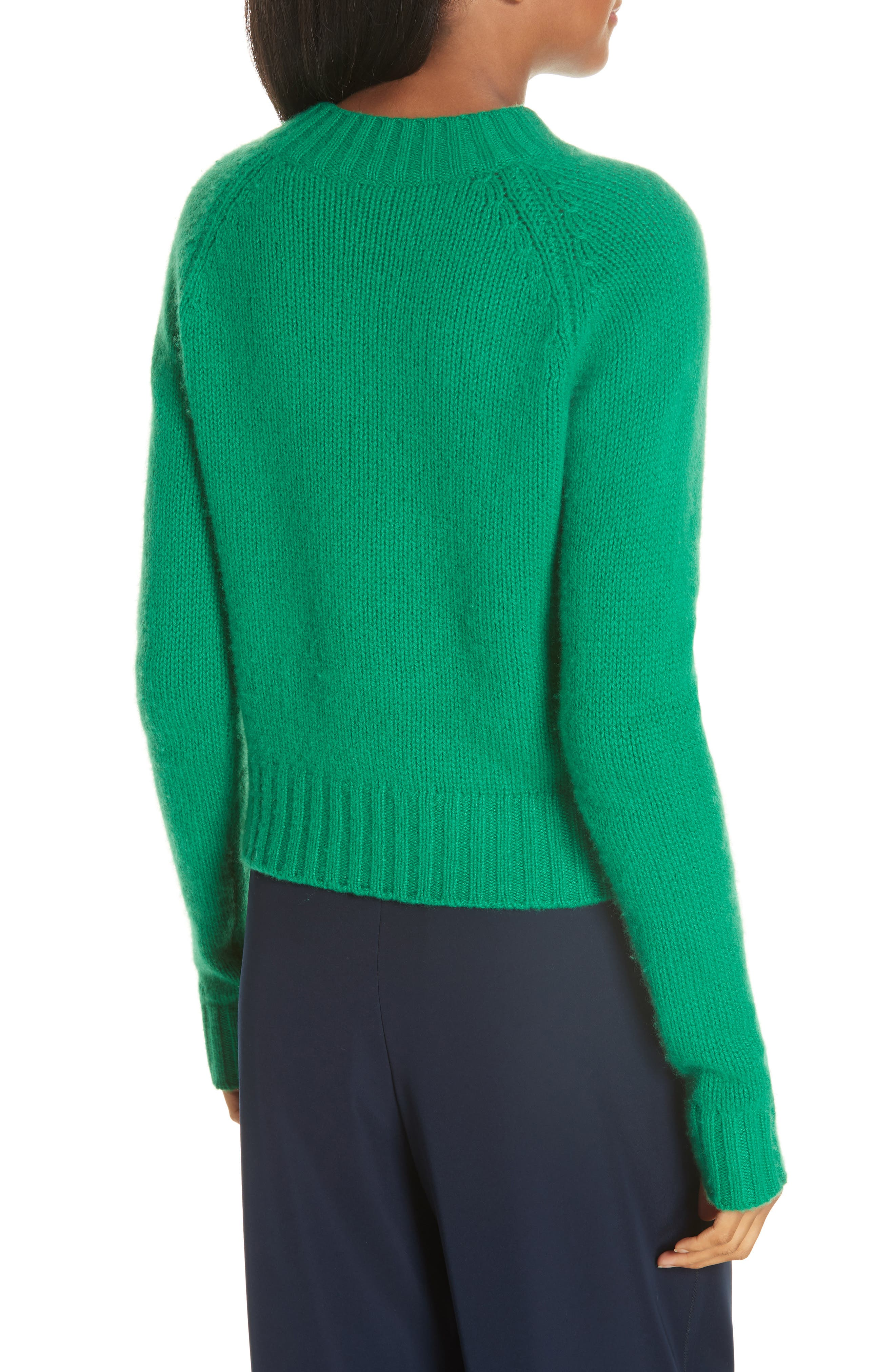 Shrunken Cashmere Sweater,                             Alternate thumbnail 2, color,                             LEAF
