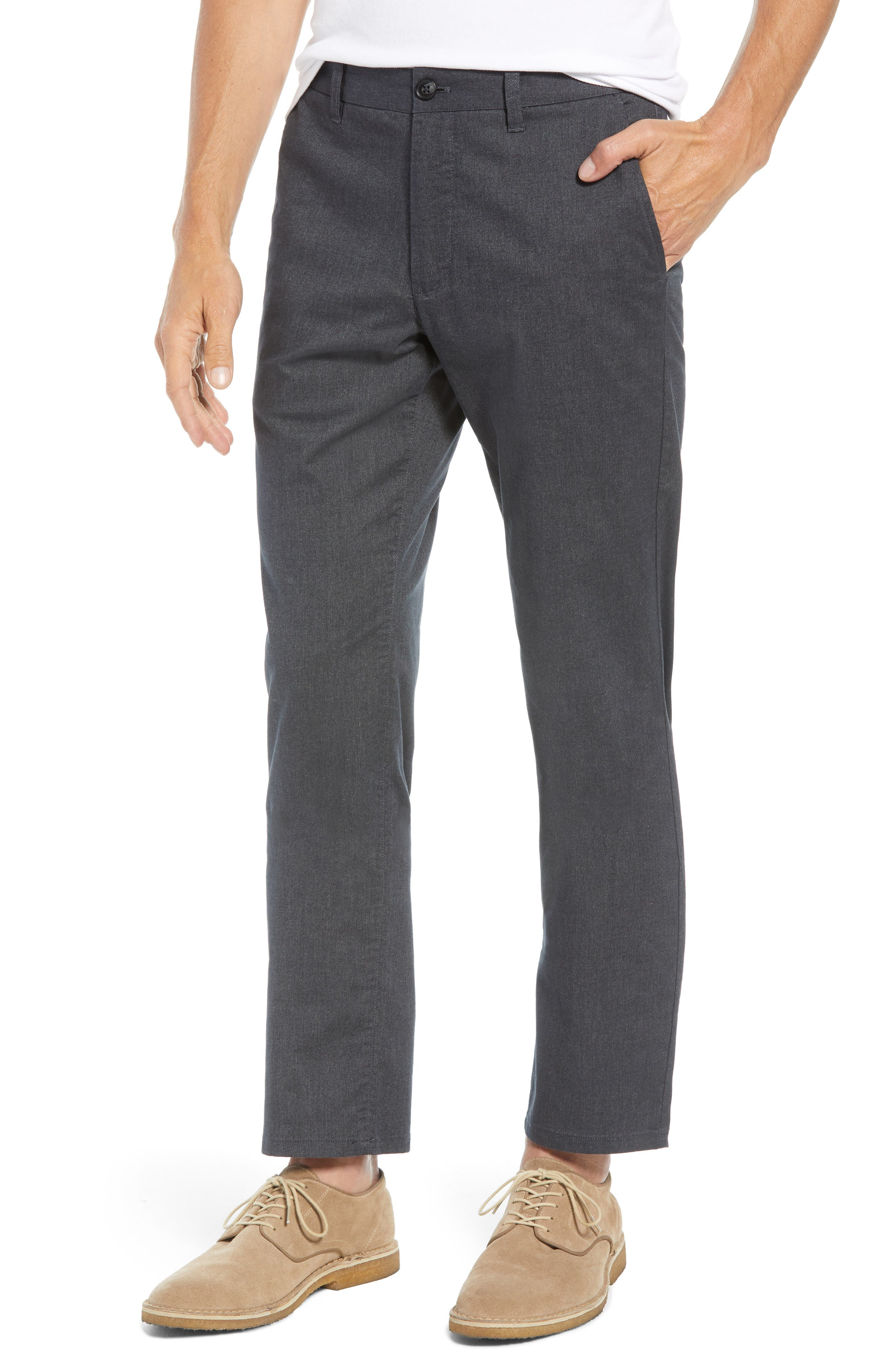 Tailored Fit Stretch Yarn-Dye Washed Chinos,                         Main,                         color, 020