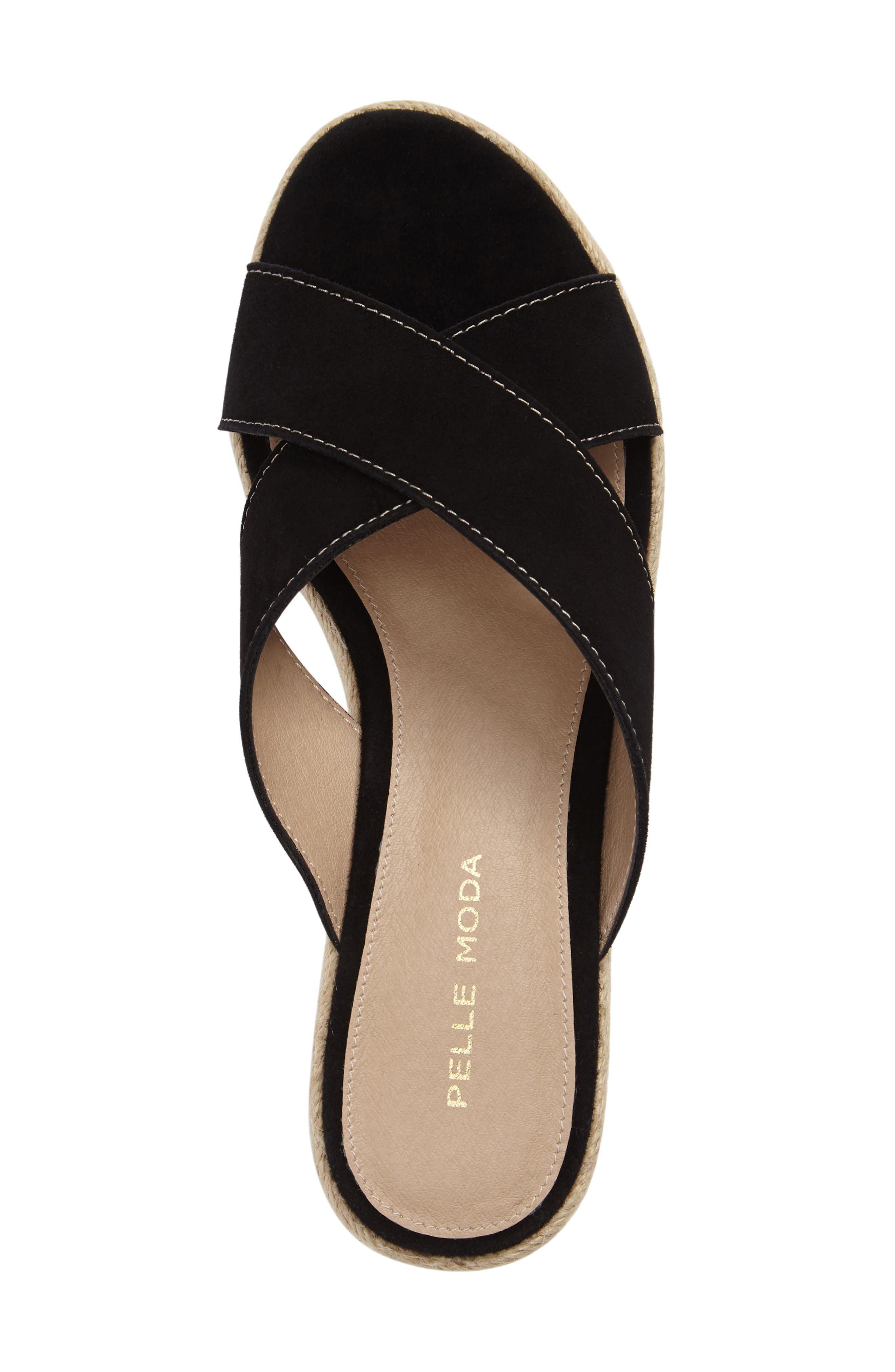 Harriet Platform Wedge Sandal,                             Alternate thumbnail 5, color,                             001