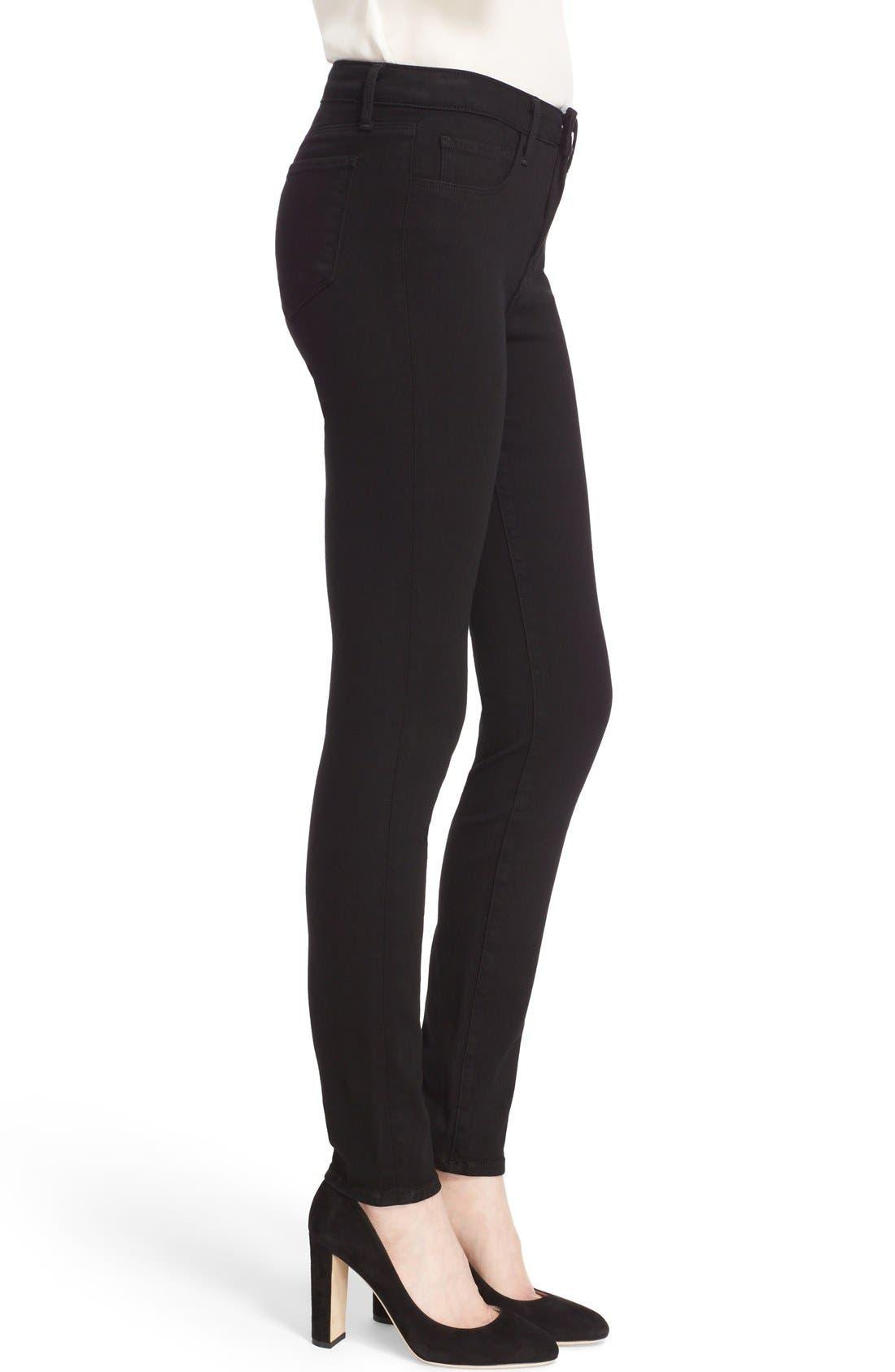 Marguerite Skinny Jeans,                             Alternate thumbnail 3, color,                             001