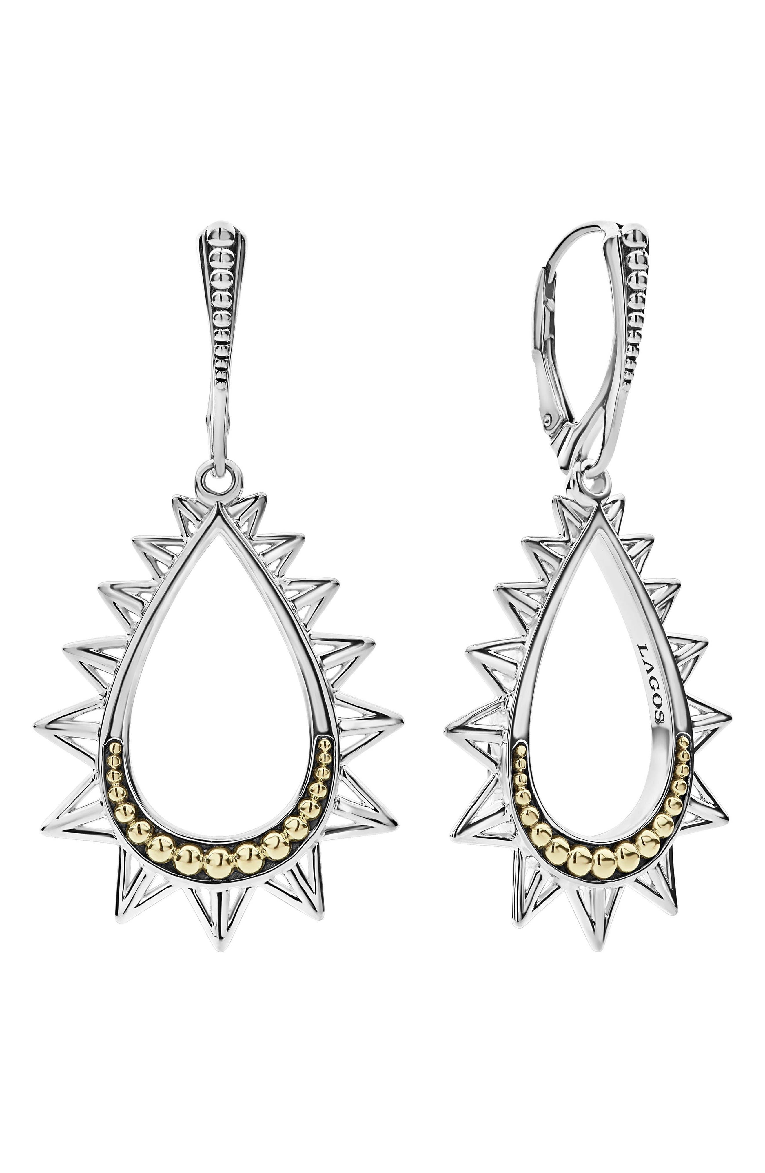 KSL Spiked Pear Drop Earrings,                             Main thumbnail 1, color,                             040
