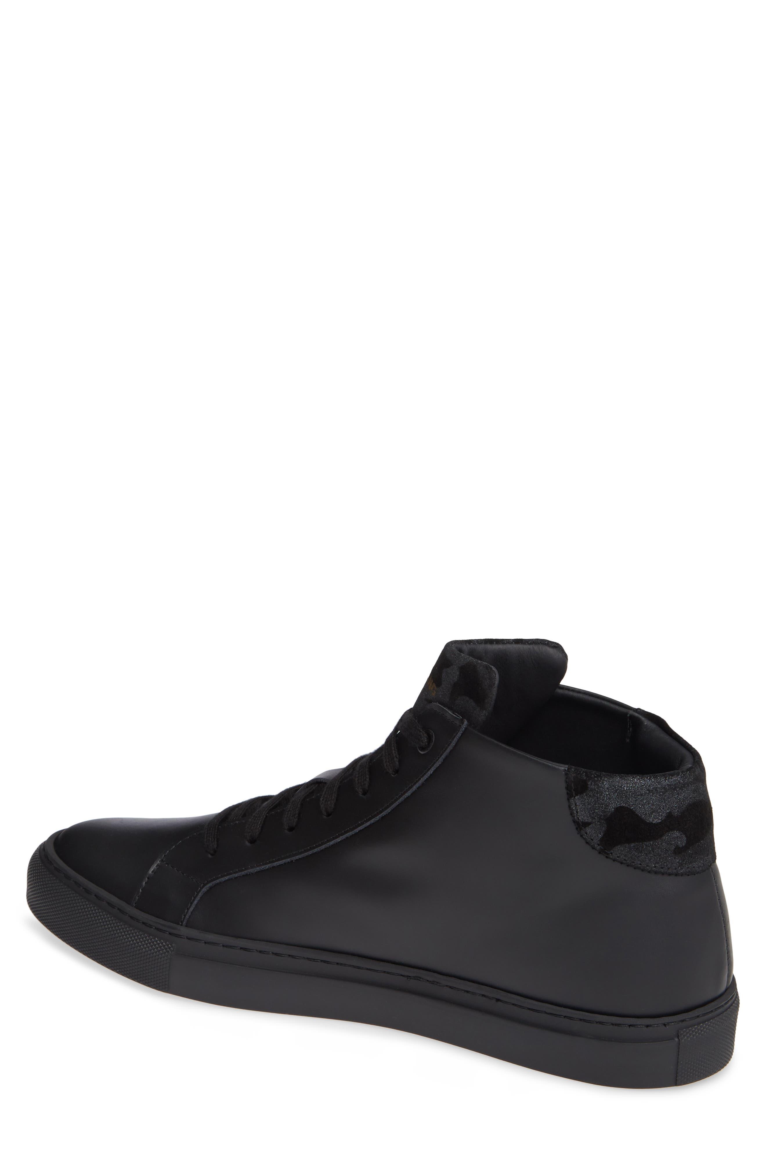 Rome High Top Sneaker,                             Alternate thumbnail 2, color,                             BLACK