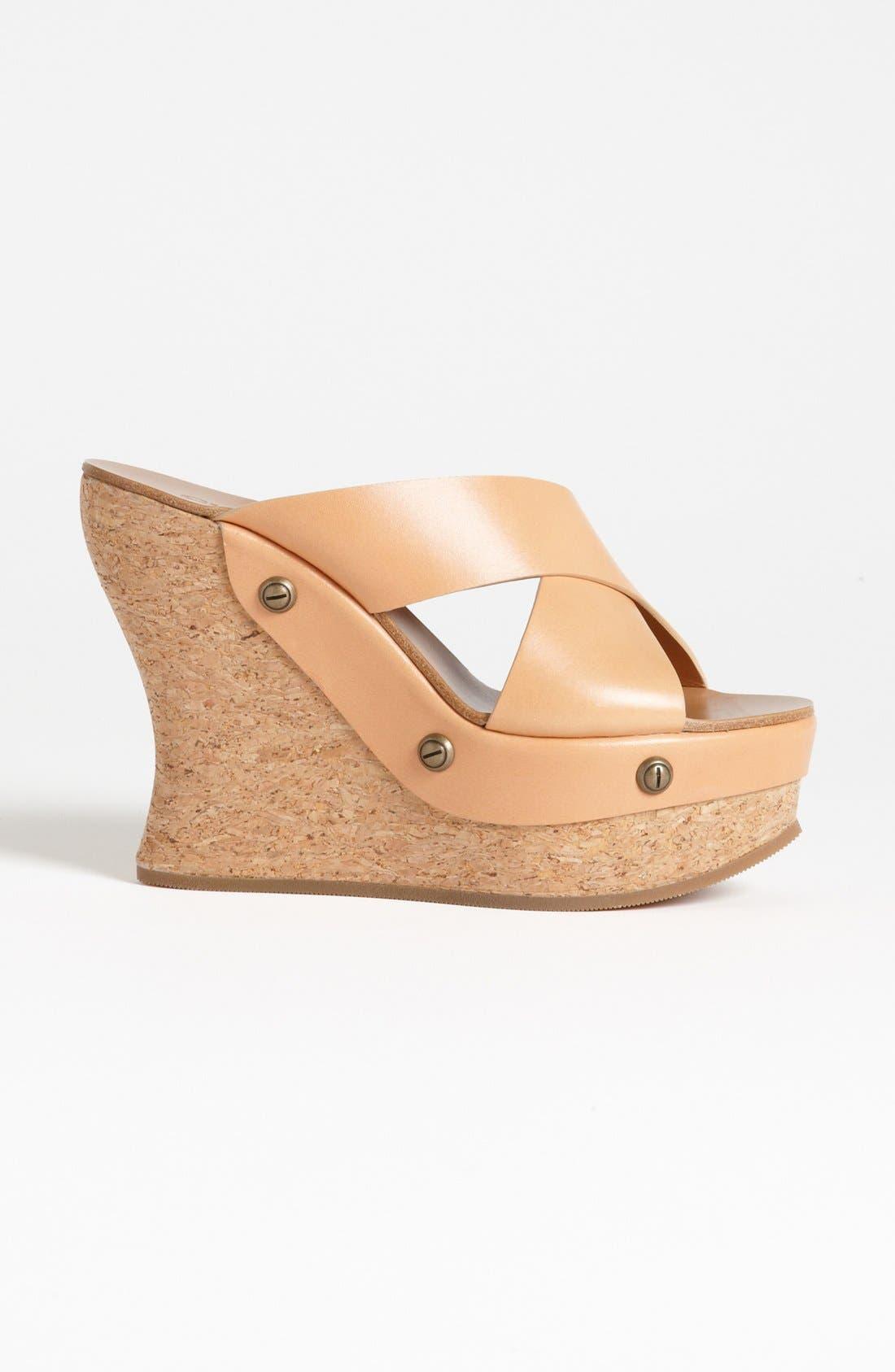 Cork Platform Wedge Sandal,                             Alternate thumbnail 3, color,                             250