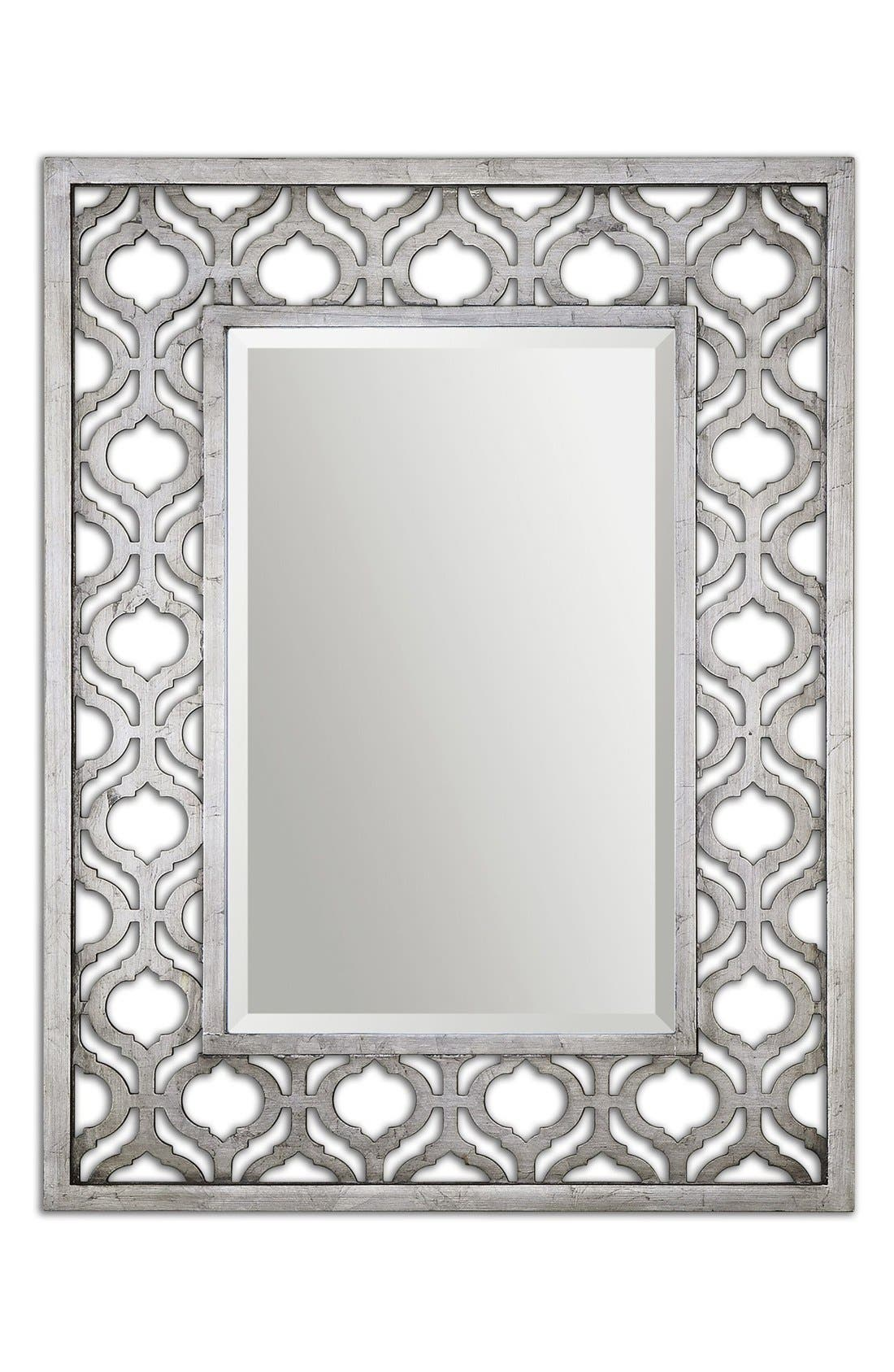 'Sorbolo' Silver Leaf Mirror,                             Main thumbnail 1, color,                             020