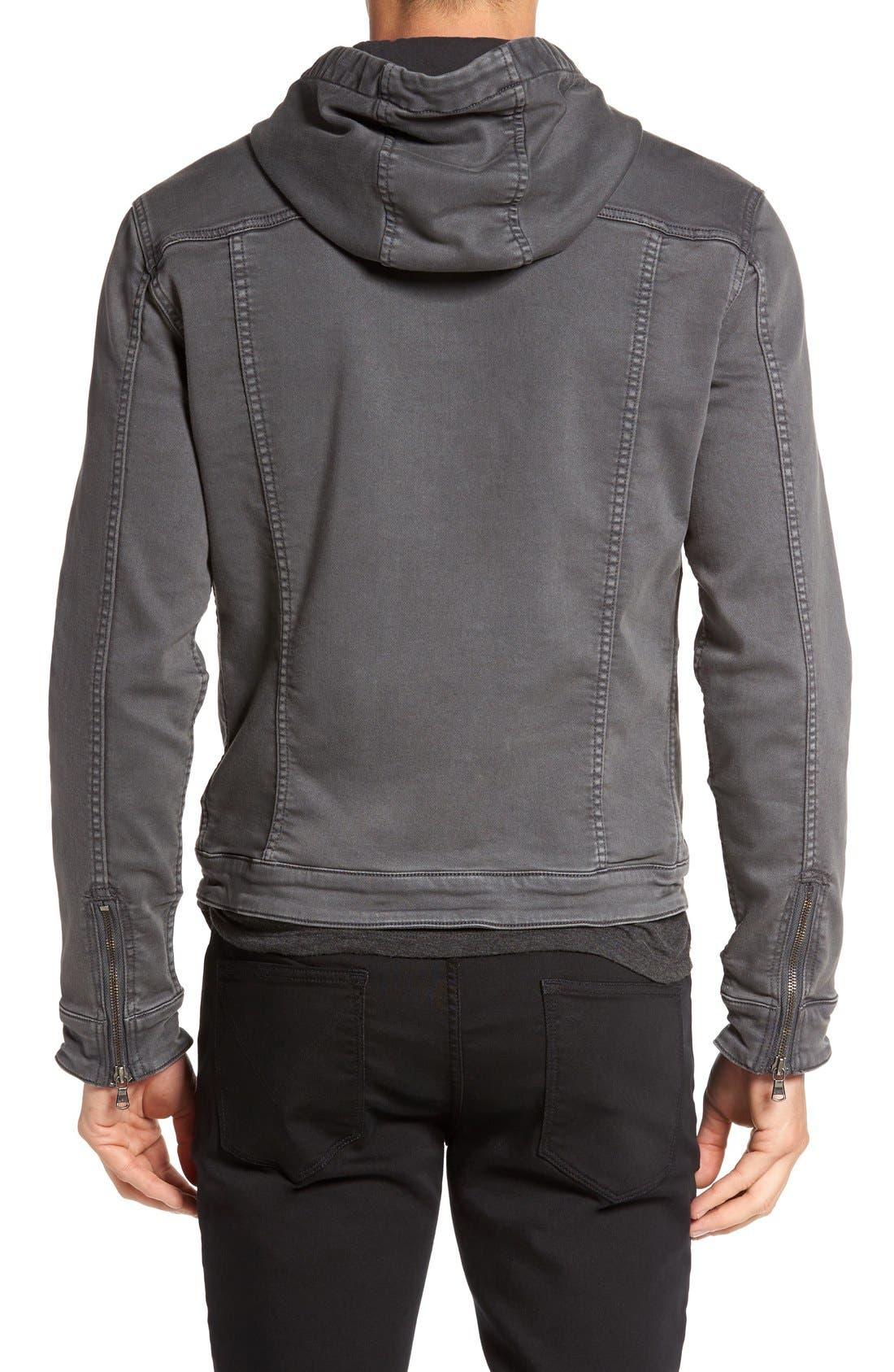 Hooded Denim Jacket,                             Alternate thumbnail 9, color,