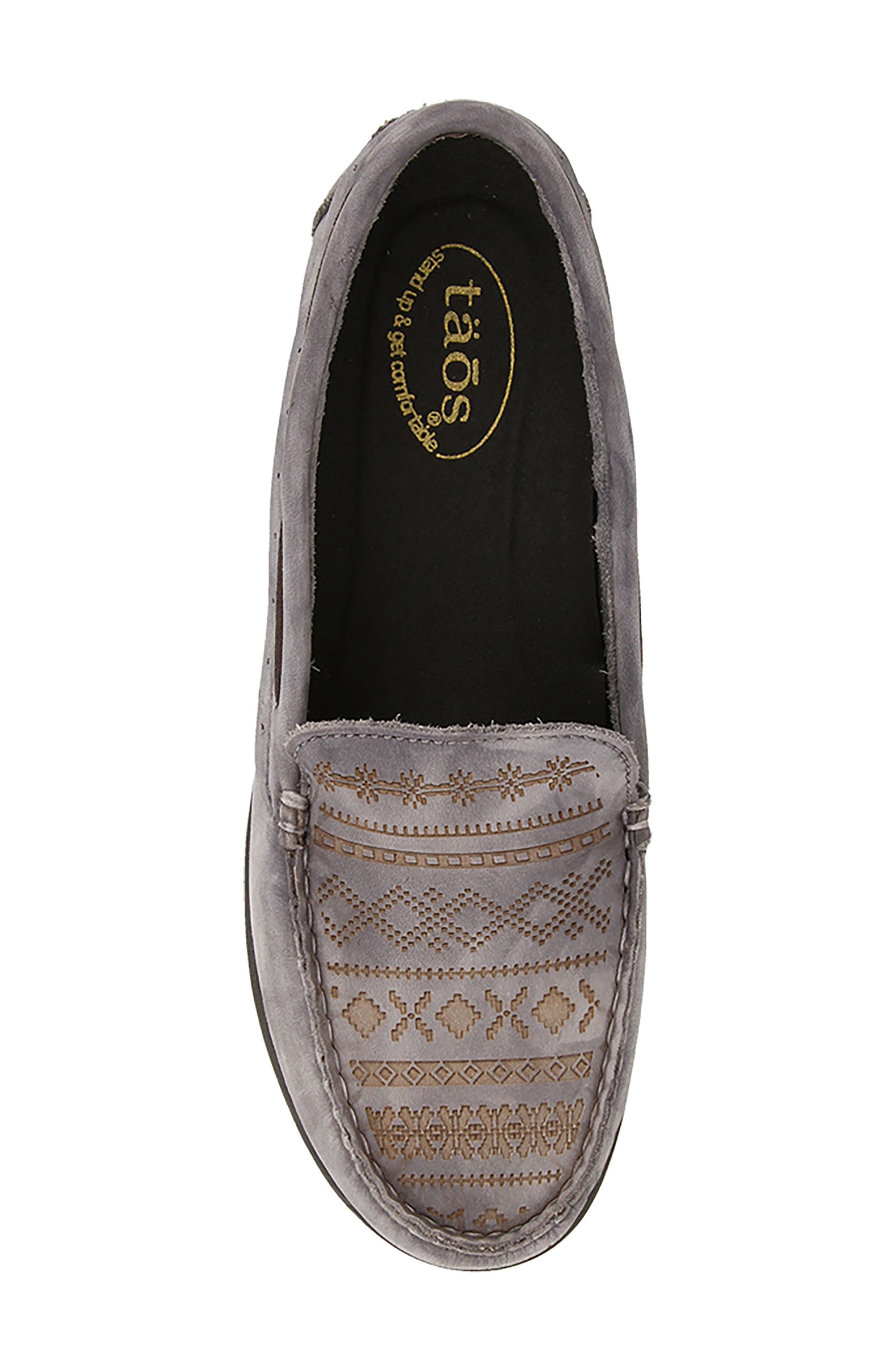 Heritage Moccasin Flat,                             Alternate thumbnail 4, color,                             STEEL GREY LEATHER