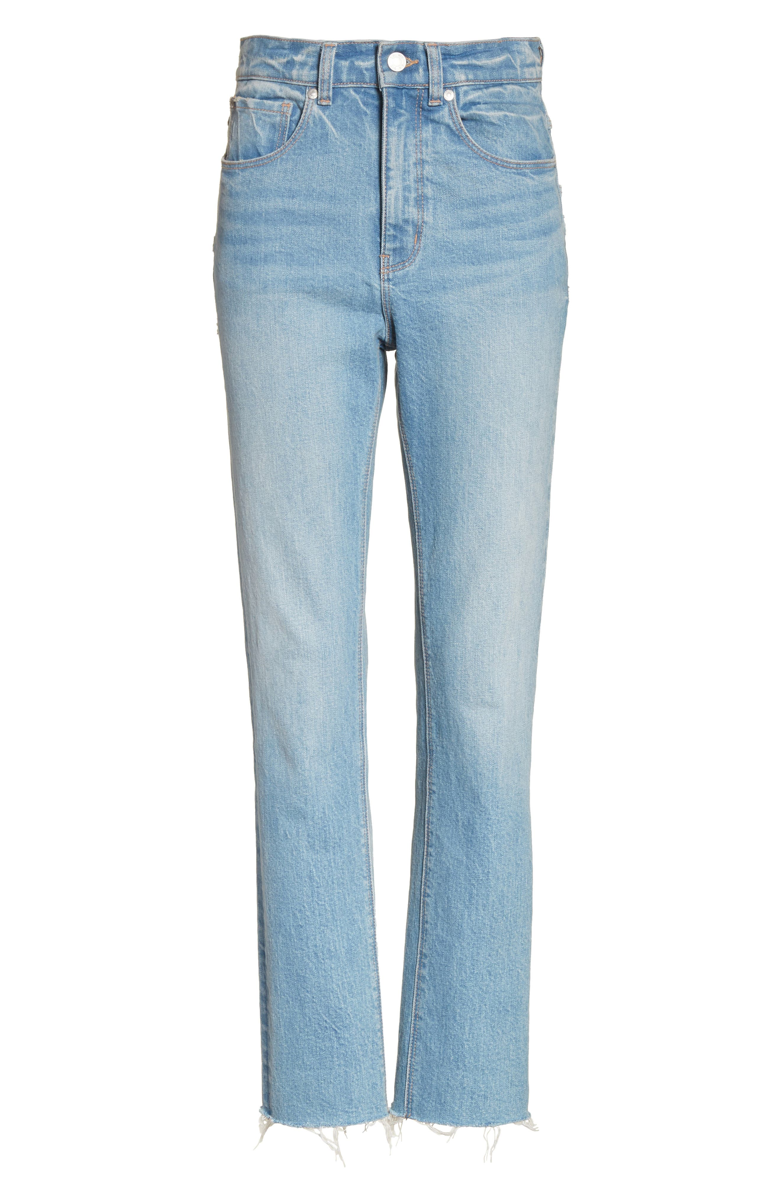 Ines High Waist Ankle Jeans,                             Alternate thumbnail 6, color,                             469